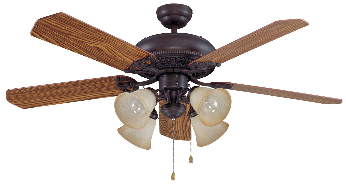 """Offer 52"""" Jaynes 5 Blade Traditional Ceiling Fan Designed With Regard To Most Current Cerro 5 Blade Ceiling Fans (View 15 of 20)"""