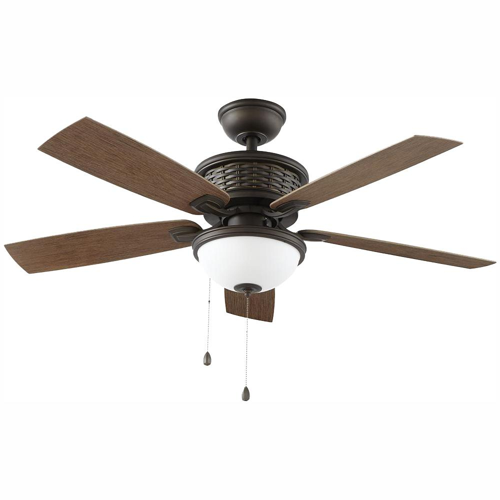 O'hanlon 5 Blade Led Ceiling Fans Intended For Favorite Home Decorators Collection Madreno 48 In. Led Indoor/outdoor Oil Rubbed Bronze Ceiling Fan With Light Kit (Gallery 12 of 20)