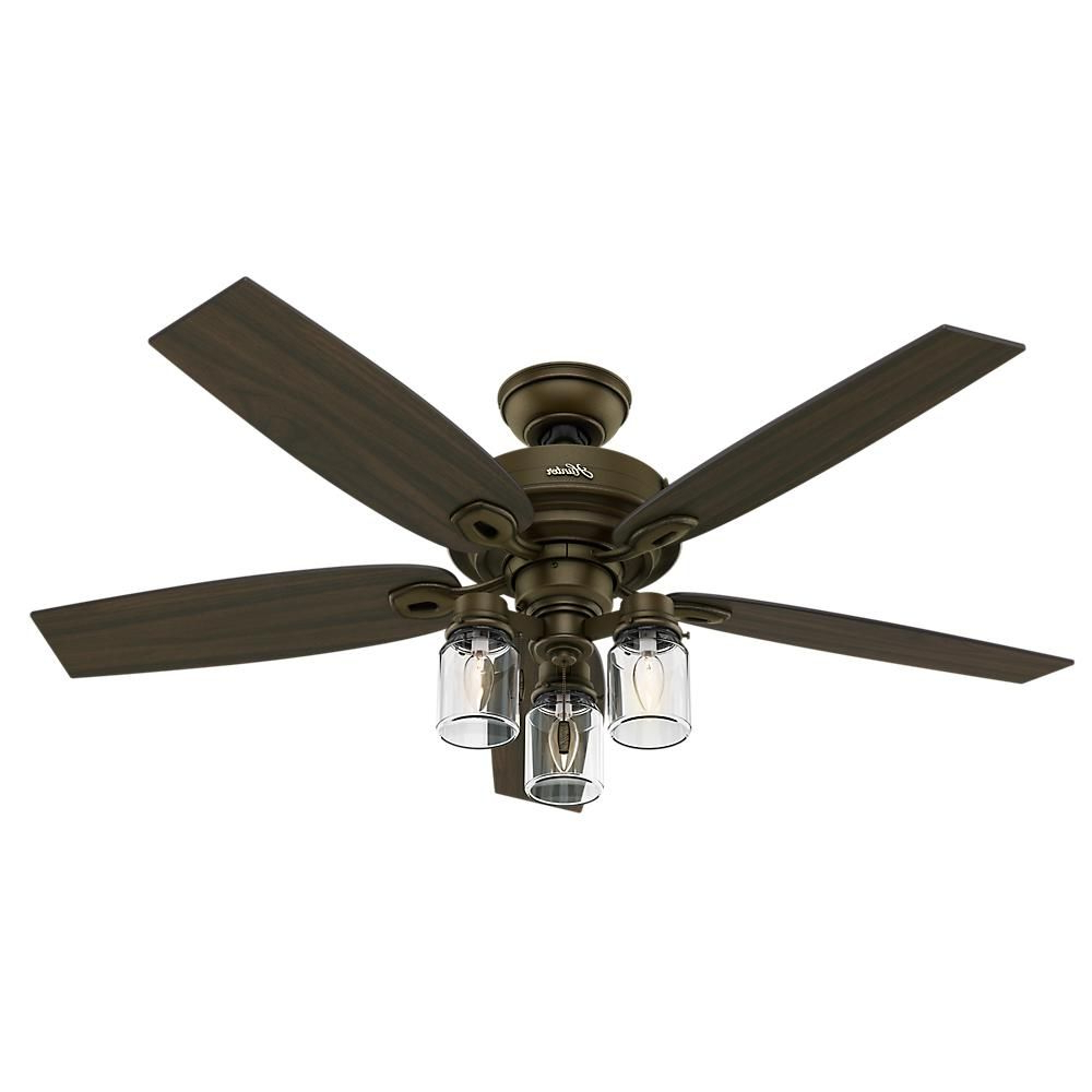 O'hanlon 5 Blade Led Ceiling Fans Intended For Most Popular Hunter Crown Canyon 52 In (View 9 of 20)