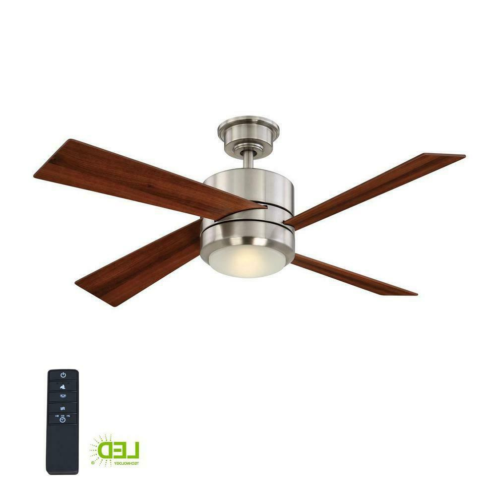"O'hanlon 5 Blade Led Ceiling Fans Regarding Most Recently Released Home Decorators Healy 48"" Led Brushed Nickel Ceiling Fan (Yg337 Bn) (View 19 of 20)"