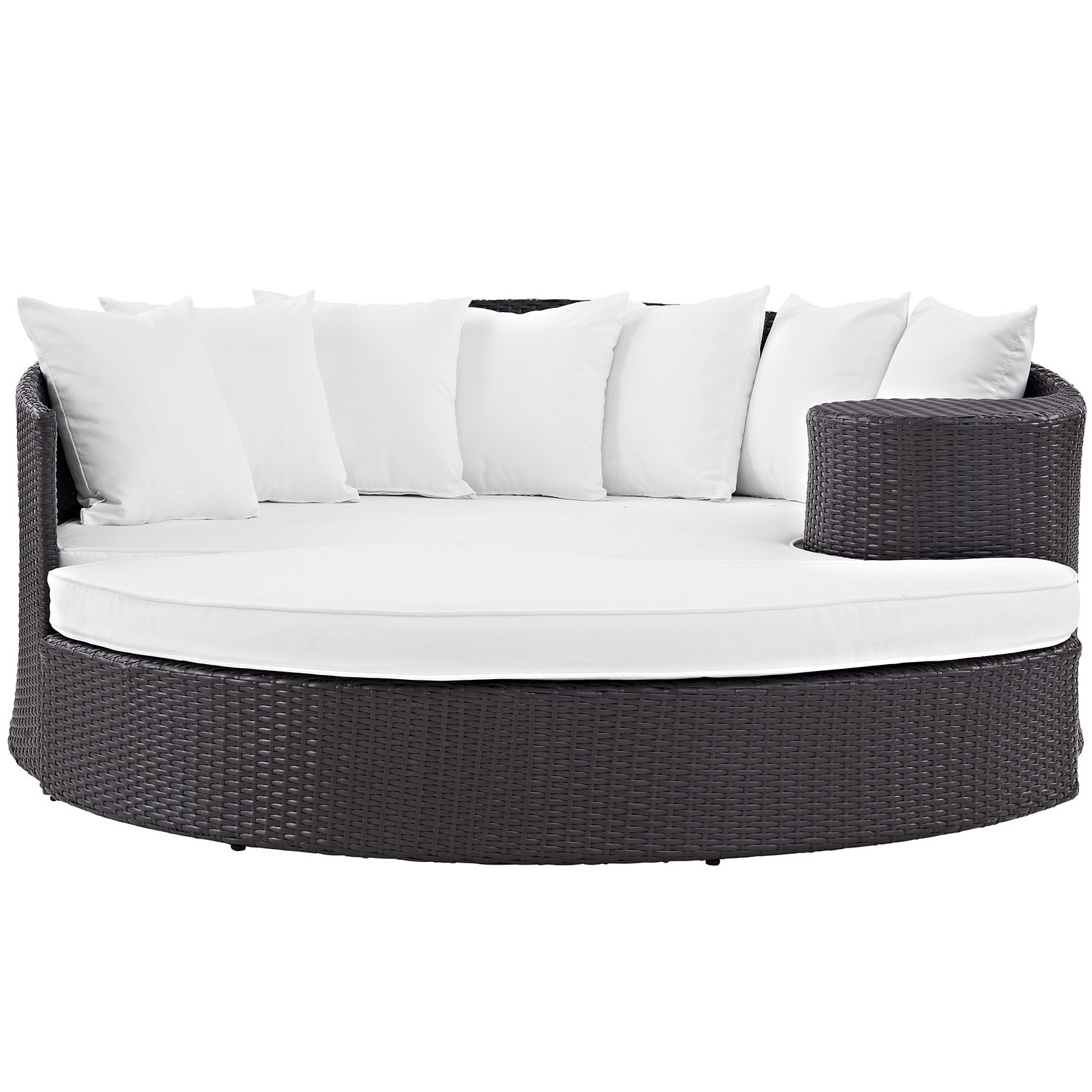Olu Bamboo Large Round Patio Daybeds With Cushions With Trendy Brentwood Patio Daybed With Cushions (View 7 of 20)