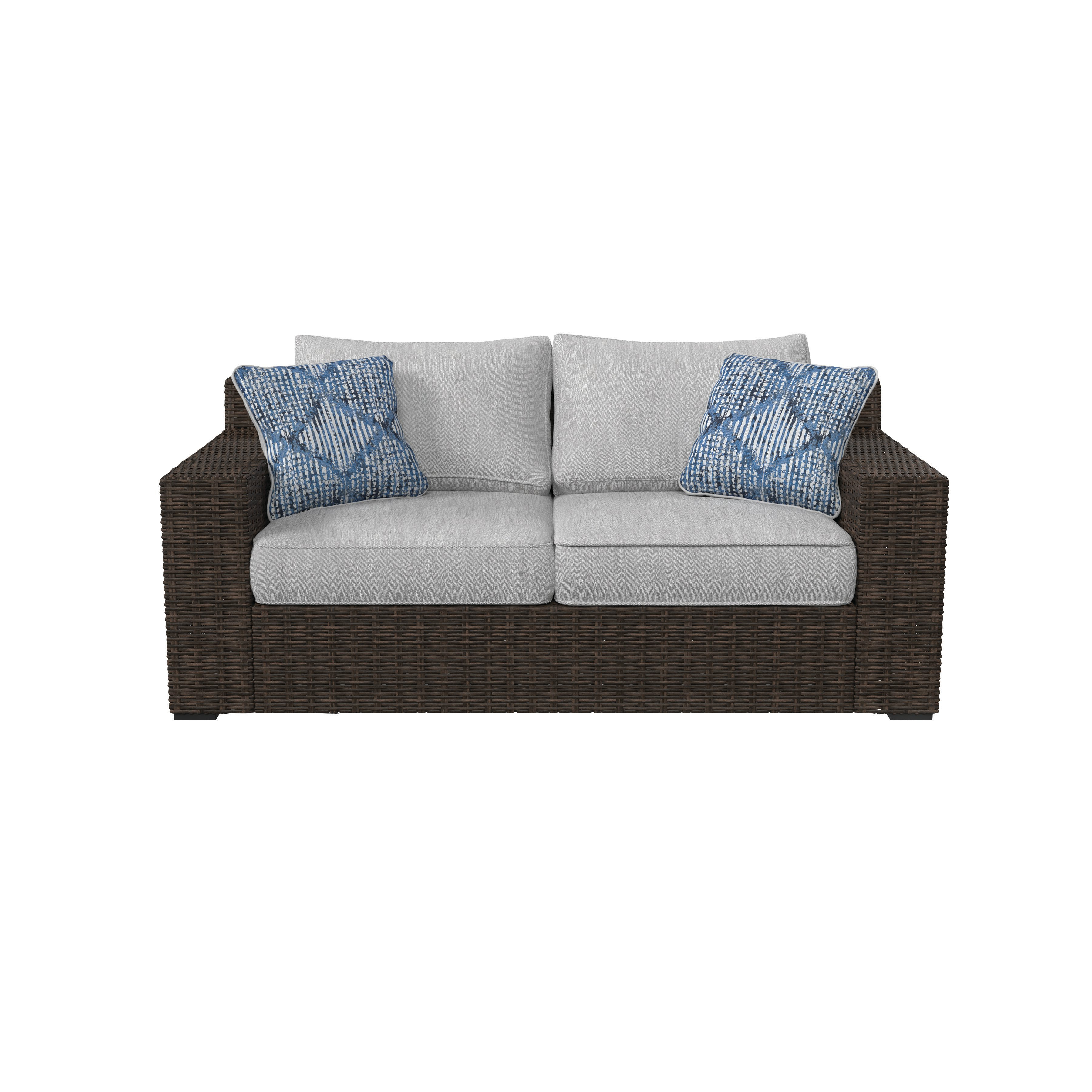 Oreland Loveseat With Cushions In Trendy Camak Patio Loveseats With Cushions (View 17 of 20)