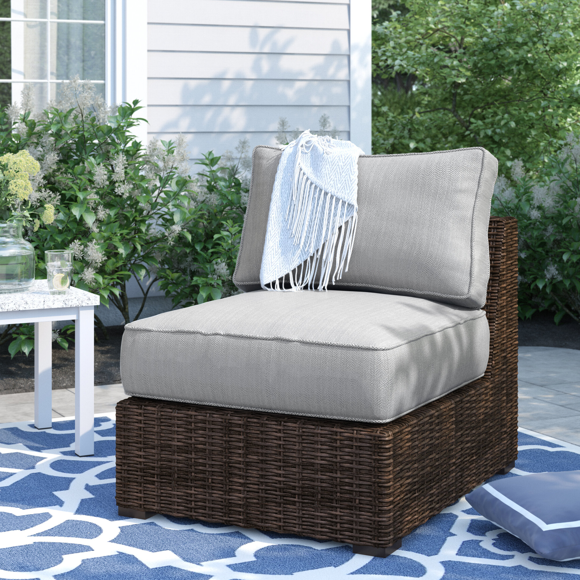 Oreland Patio Sofas With Cushions For Most Recently Released Oreland Patio Chair With Cushions (View 11 of 20)