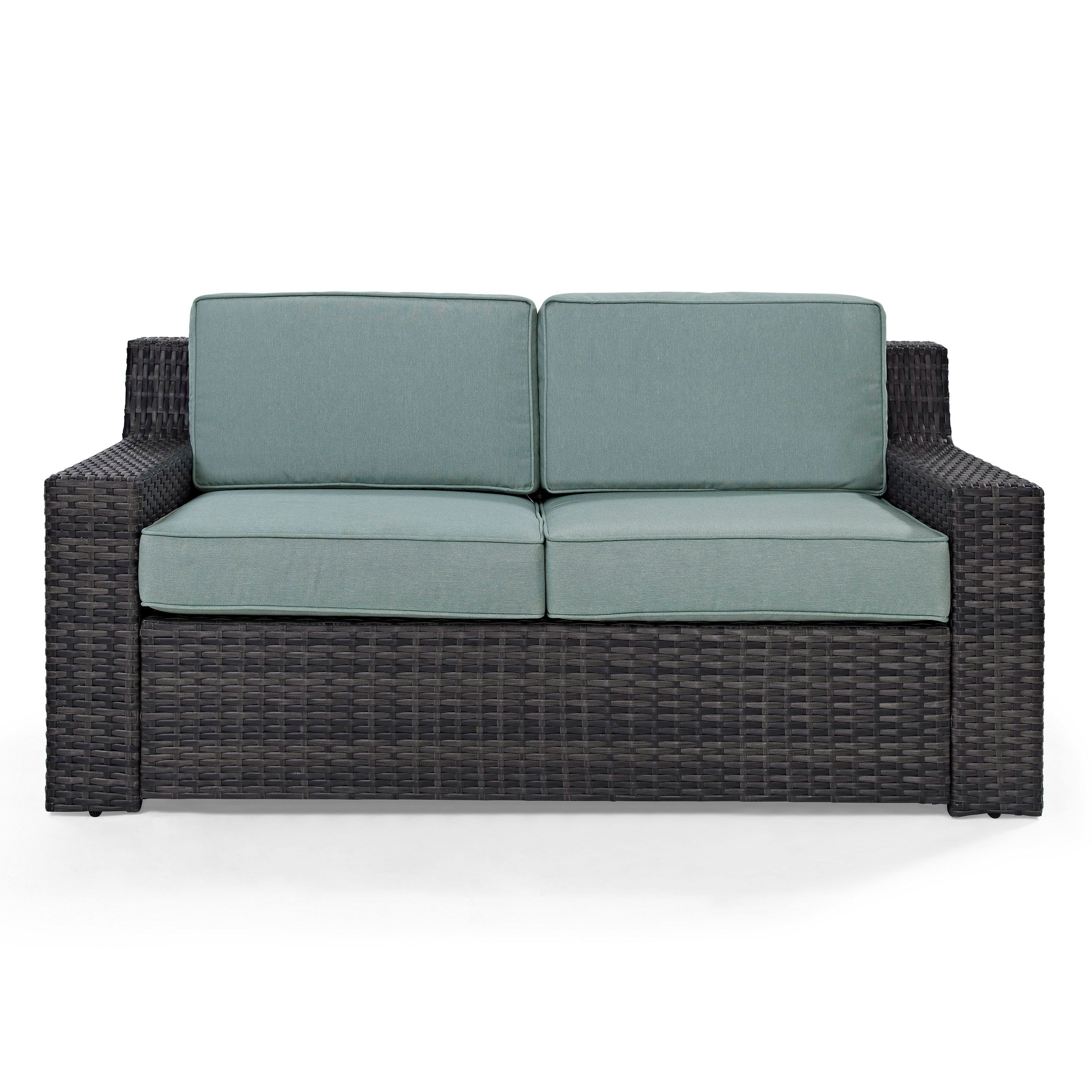 Outdoor Crosley Furniture Beaufort Patio Loveseat With Throughout Newest Vardin Loveseats With Cushions (View 6 of 20)