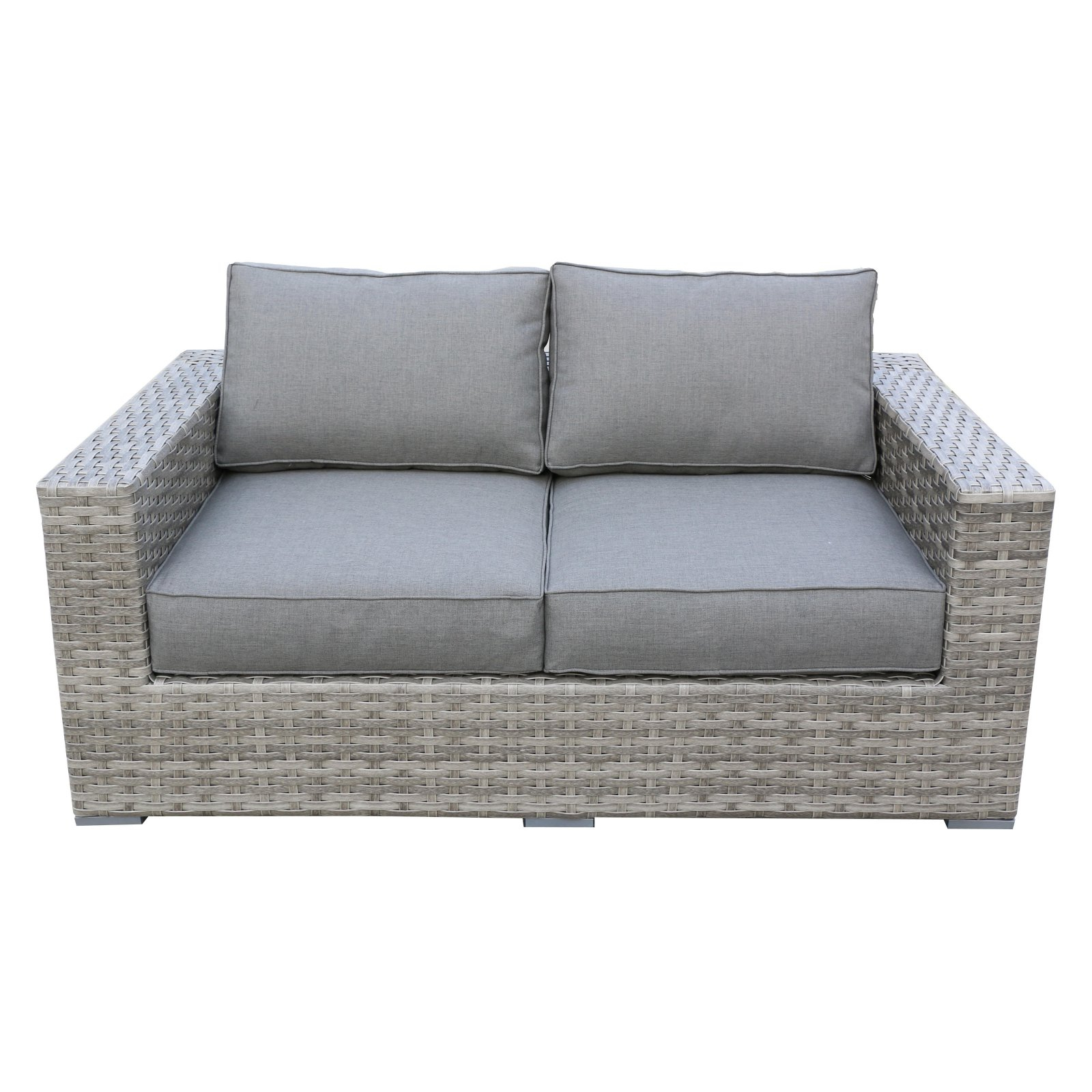 Outdoor Teva Patio Bali Wicker Patio Loveseat In 2019 Intended For 2020 Keever Patio Sofas With Sunbrella Cushions (View 16 of 20)