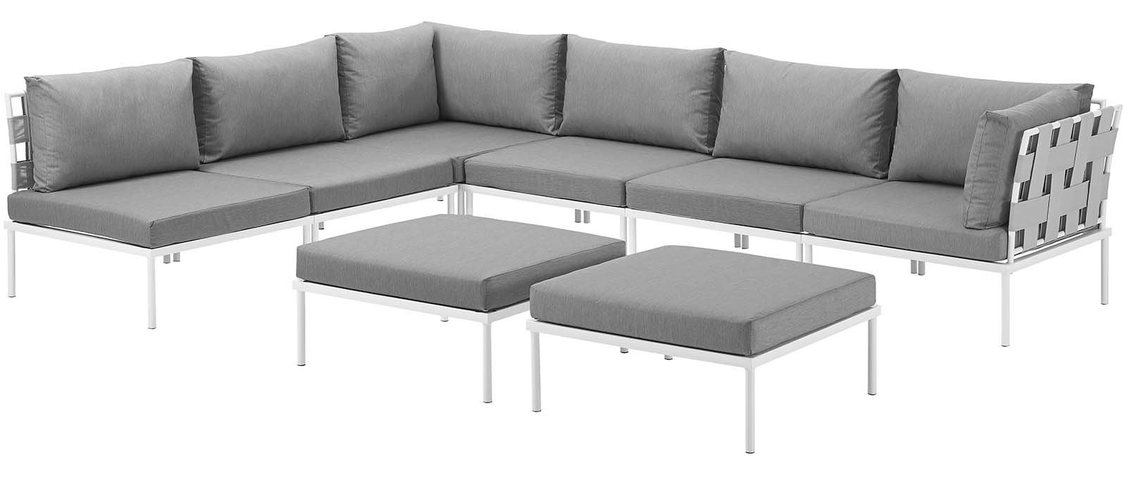 Paloma Sectionals With Cushions Throughout Favorite Darnell Outdoor Patio Sectional With Cushions (View 16 of 20)