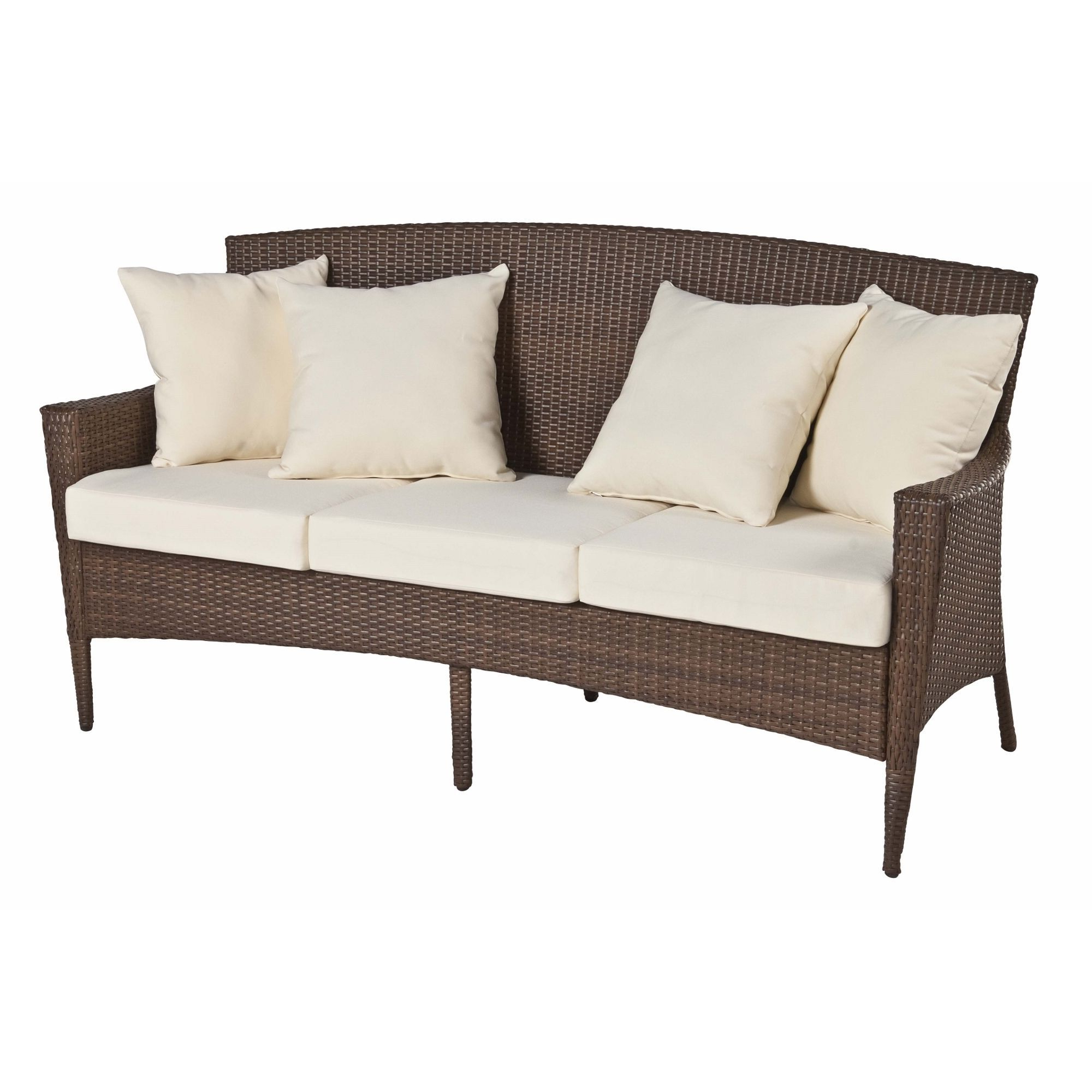Panama Jack Key Biscayne Woven Sofa With Cushion (Key In 2020 Pantano Loveseats With Cushions (View 13 of 20)