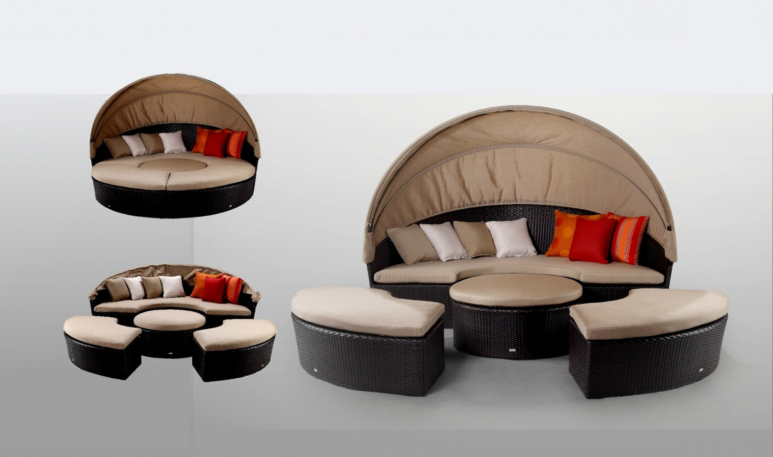 Patio Day Bed Find Olu Bamboo Large Round Daybed With Intended For Most Recently Released Leiston Round Patio Daybeds With Cushions (View 11 of 20)