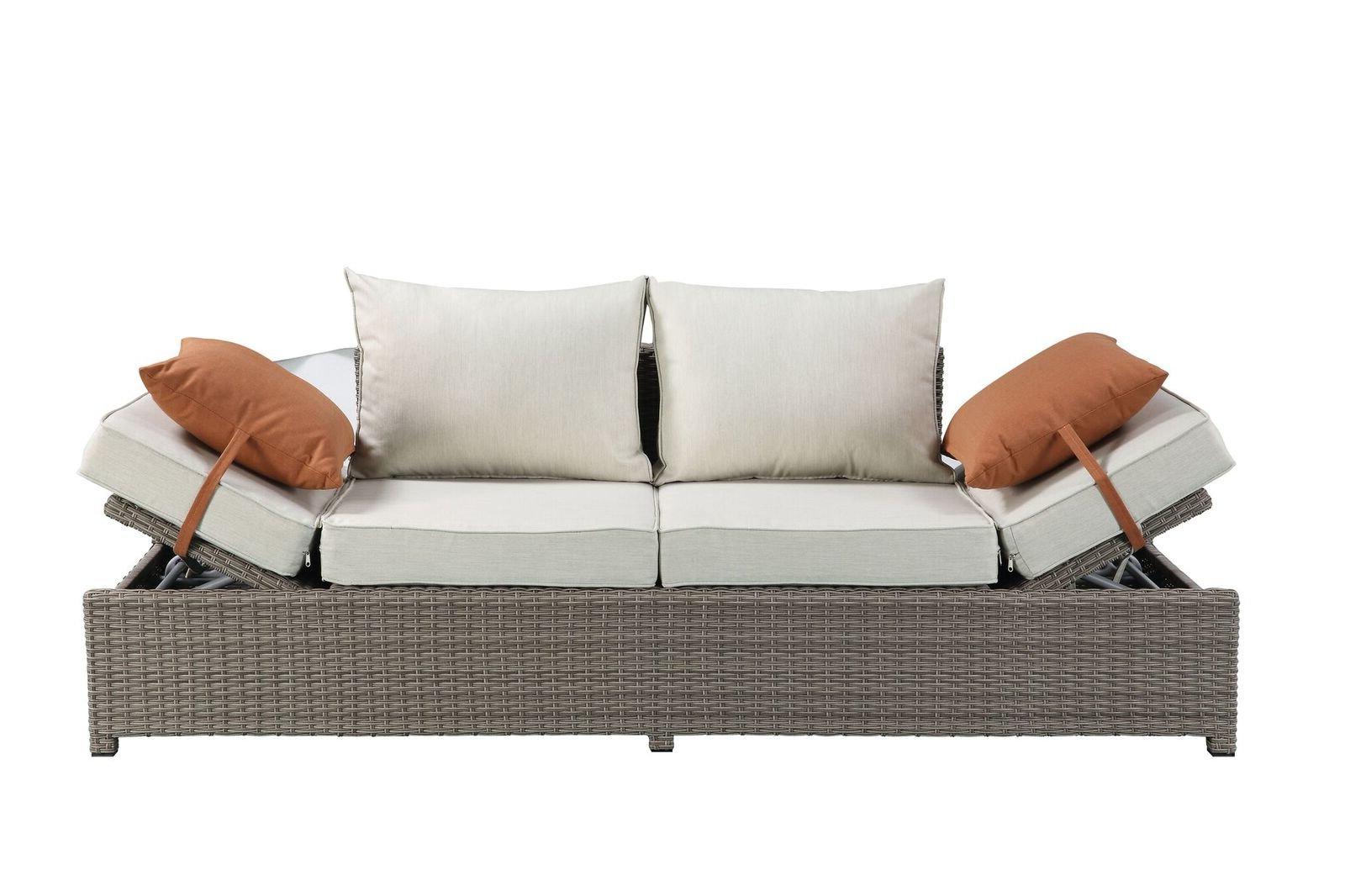 Platt Patio Sofa With Cushions Pertaining To Well Known Clifford Patio Sofas With Cushions (View 12 of 20)