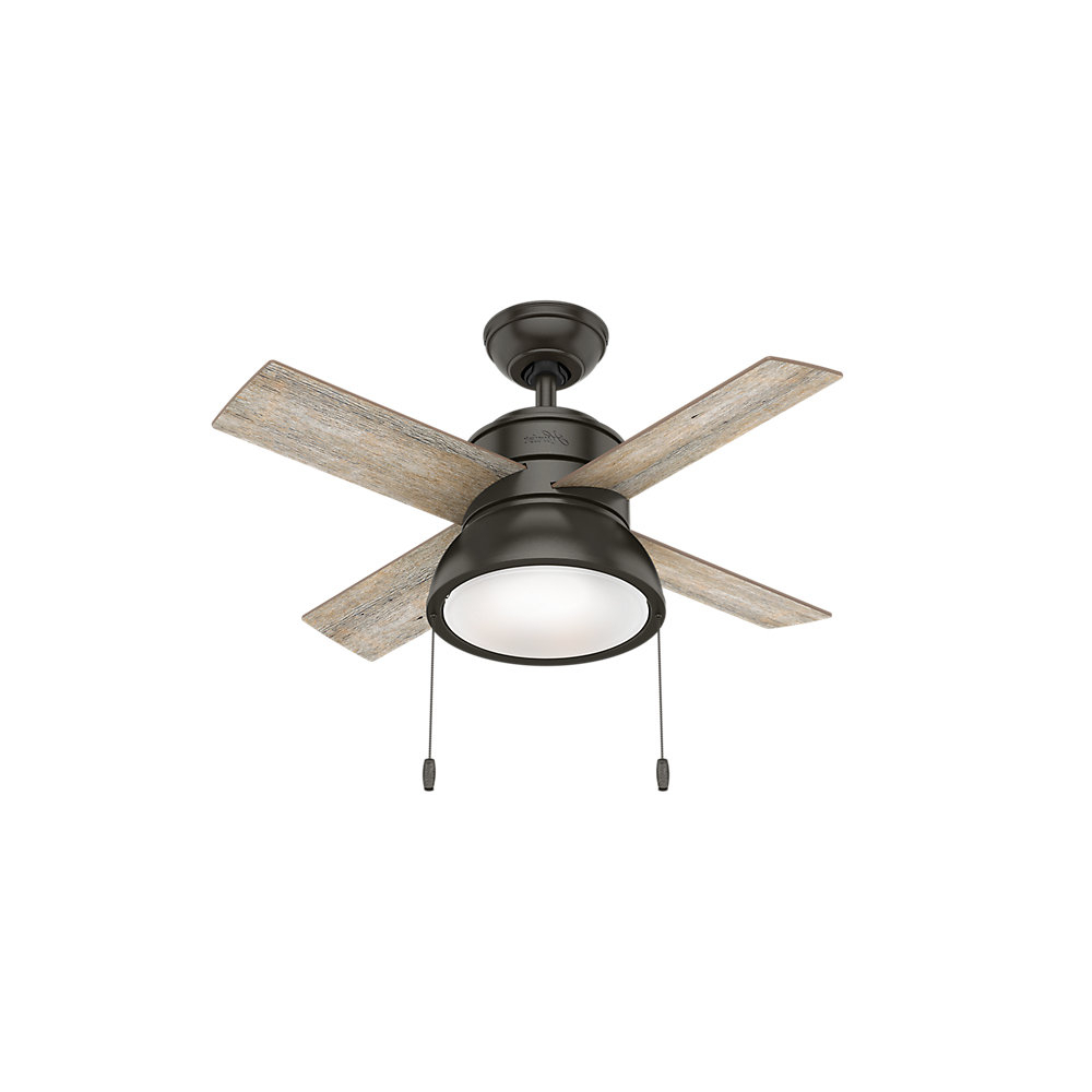 "Popular 36"" Loki 4 Blade Led Ceiling Fan, Light Kit Included Pertaining To Aker 3 Blade Led Ceiling Fans (View 16 of 20)"