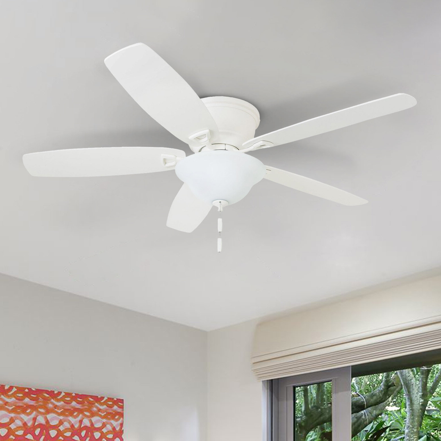 "Popular 52"" Janda 5 Blade Led Ceiling Fan For Crumbley 5 Blade Ceiling Fans (Gallery 7 of 20)"