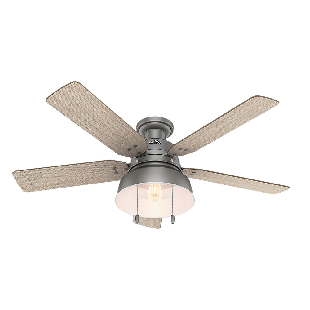 """Popular 52"""" Mill Valley 5 Blade Ceiling Fan, Light Kit Included Throughout Ronan 3 Blade Ceiling Fans (Gallery 11 of 20)"""