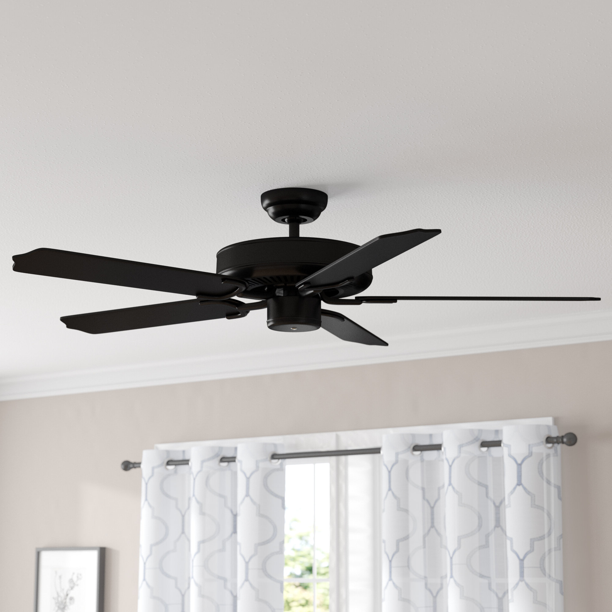 "Popular Blomquist 5 Blade Outdoor Ceiling Fans For 52"" Desouza 5 Blade Outdoor Ceiling Fan (View 4 of 20)"