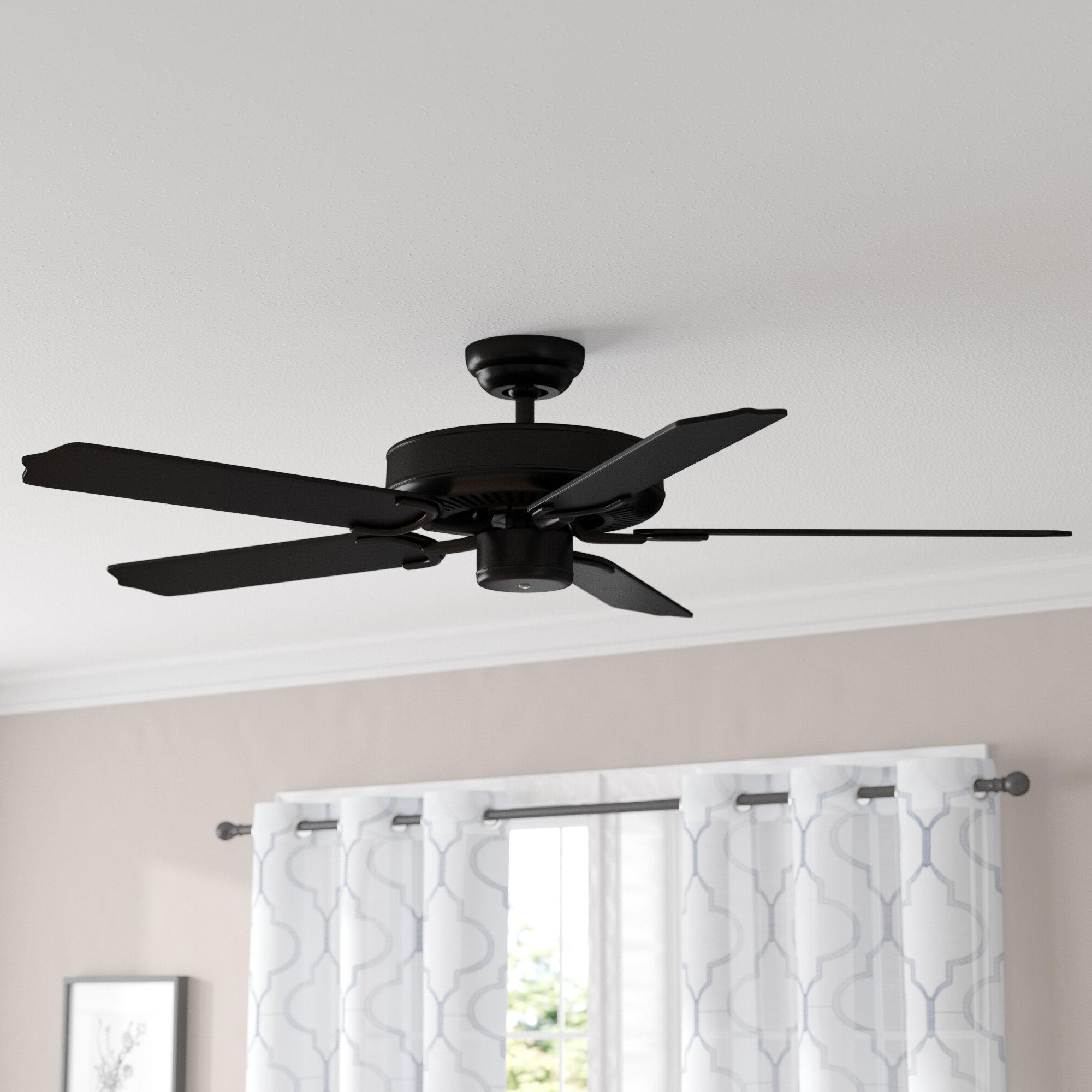 """Popular Blomquist 5 Blade Outdoor Ceiling Fans For 52"""" Desouza 5 Blade Outdoor Ceiling Fan (View 17 of 20)"""