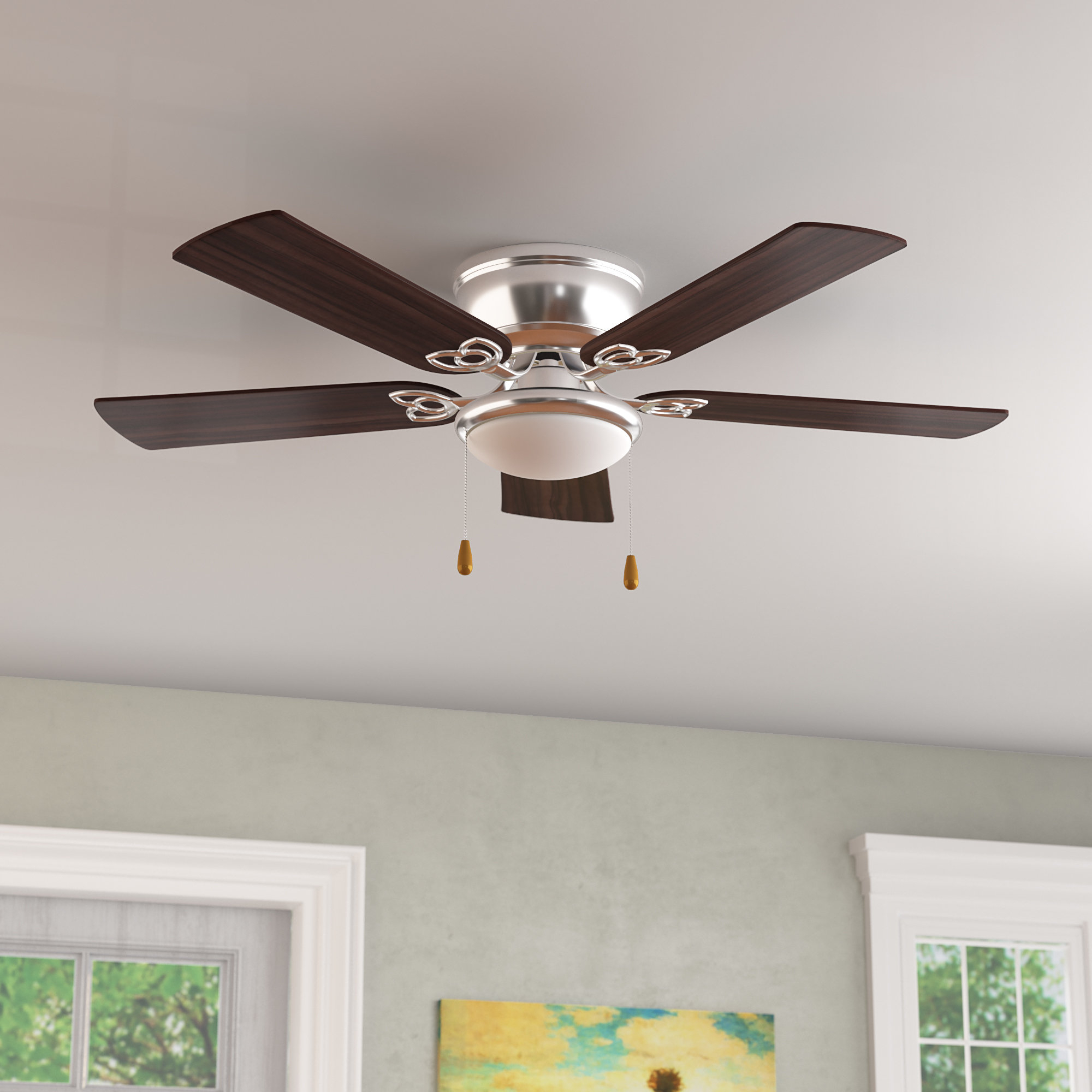 "Popular Creslow 5 Blade Ceiling Fans Inside 52"" Mattias 5 Blade Ceiling Fan, Light Kit Included (View 19 of 20)"