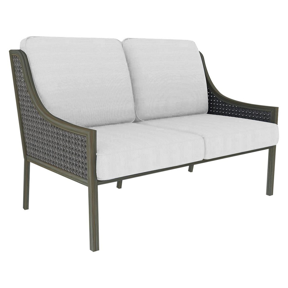 Popular Fabron Wicker Patio Loveseat – Linen – Threshold™ (View 7 of 20)