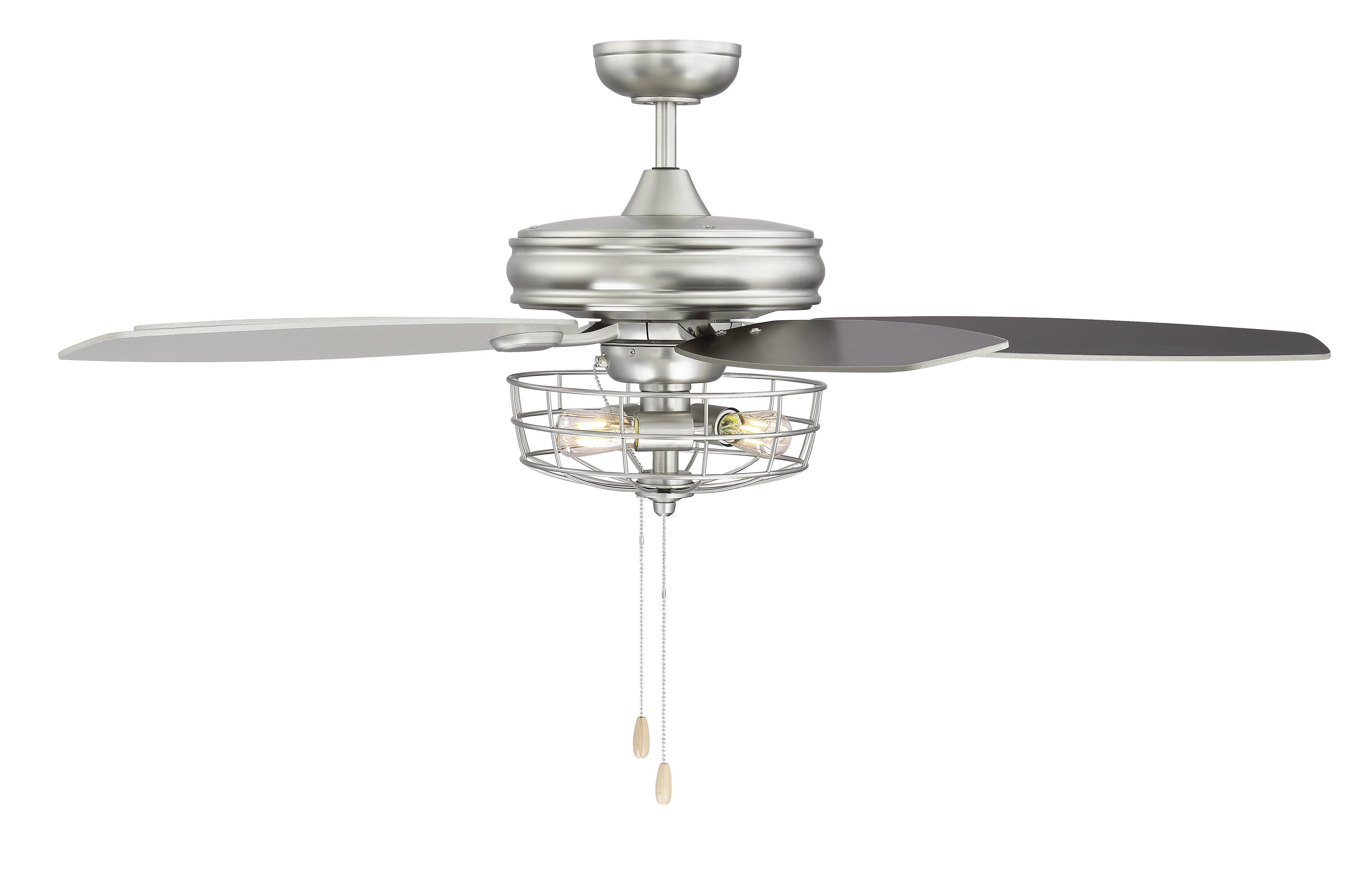 """Popular Glenpool 5 Blade Ceiling Fans Regarding 52"""" Kyla 5 Blade Ceiling Fan, Light Kit Included (Gallery 14 of 20)"""