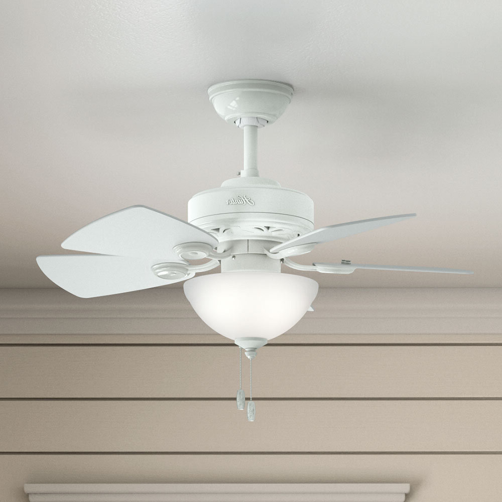 "Popular Hatherton 5 Blade Ceiling Fans Throughout 34"" Watson 5 Blade Ceiling Fan, Light Kit Included (Gallery 10 of 20)"