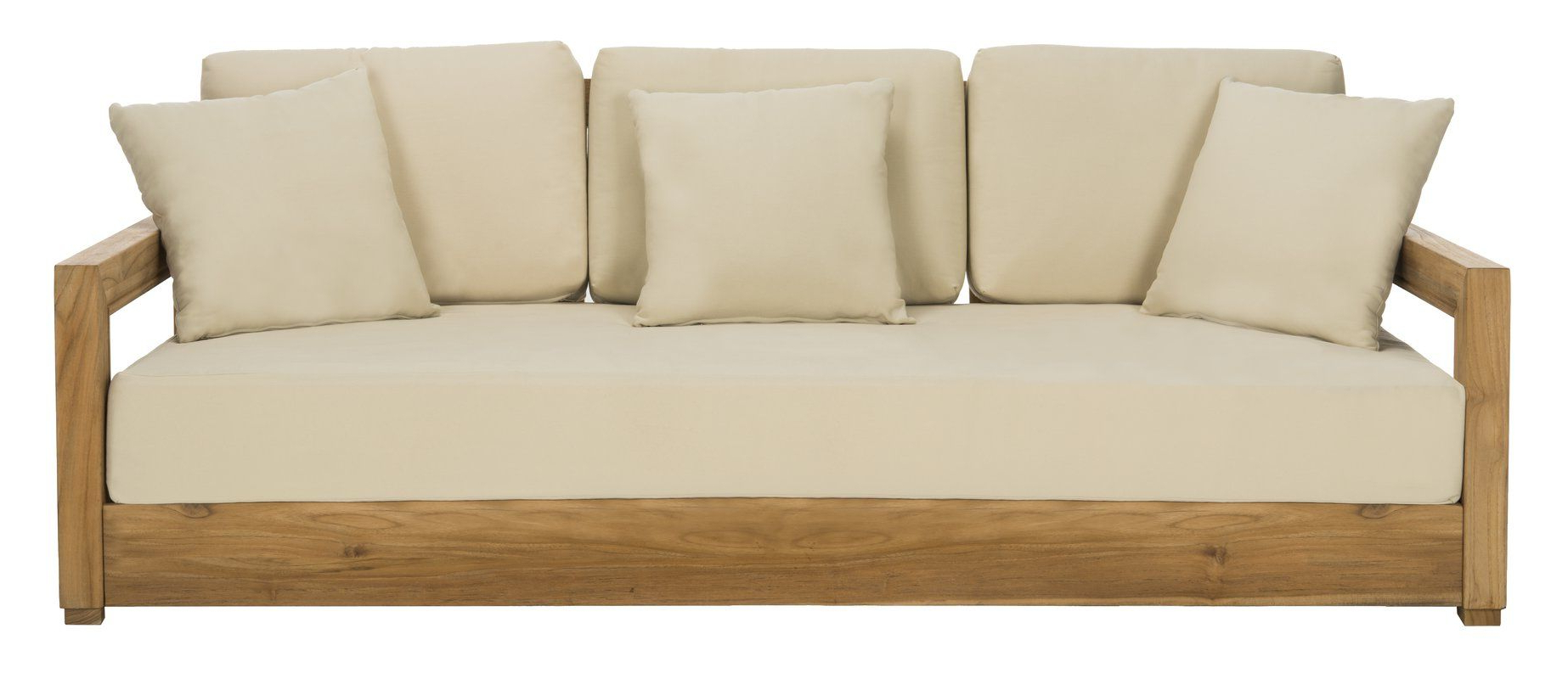 Popular Lakeland Teak Loveseats With Cushions Throughout Lakeland Patio Sofa With Cushions (View 3 of 20)