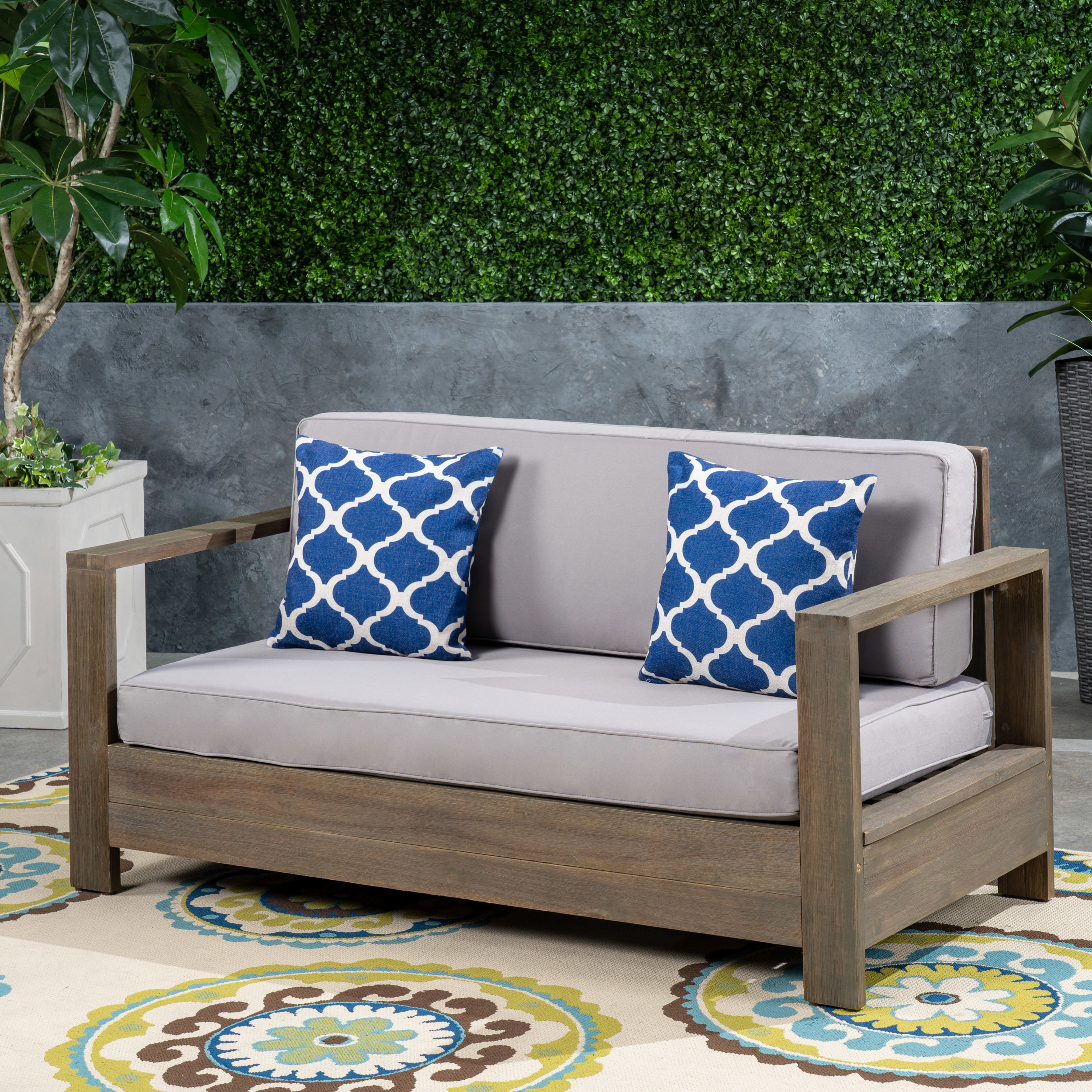 Popular Lyall Loveseats With Cushion With Regard To Landis Loveseat With Cushions (View 18 of 20)
