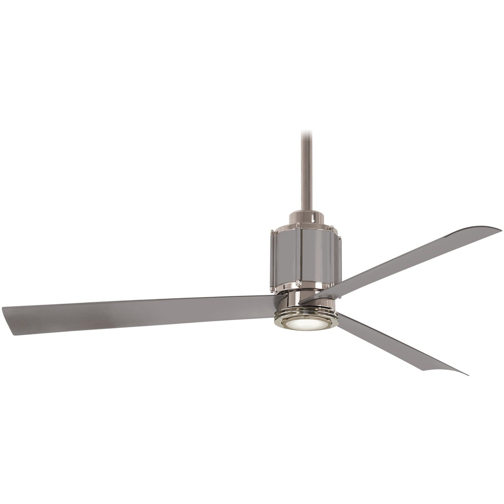 Popular Minka Aire F736L Pn/bs Gear Polished Nickel/brushed Steel 54 Within Theron Catoe 3 Blade Ceiling Fans (View 6 of 20)