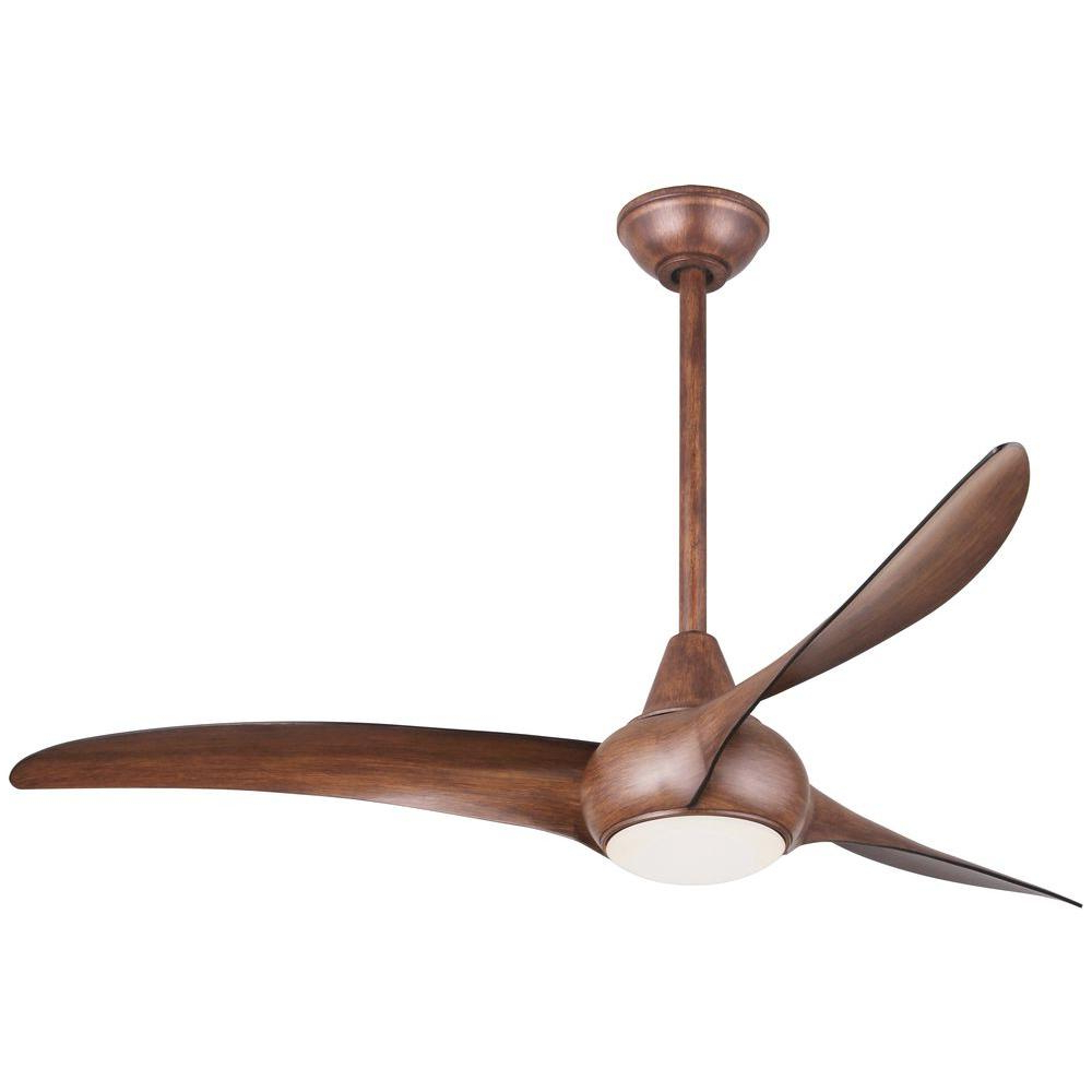 Featured Photo of Wave 3 Blade Led Ceiling Fans With Remote