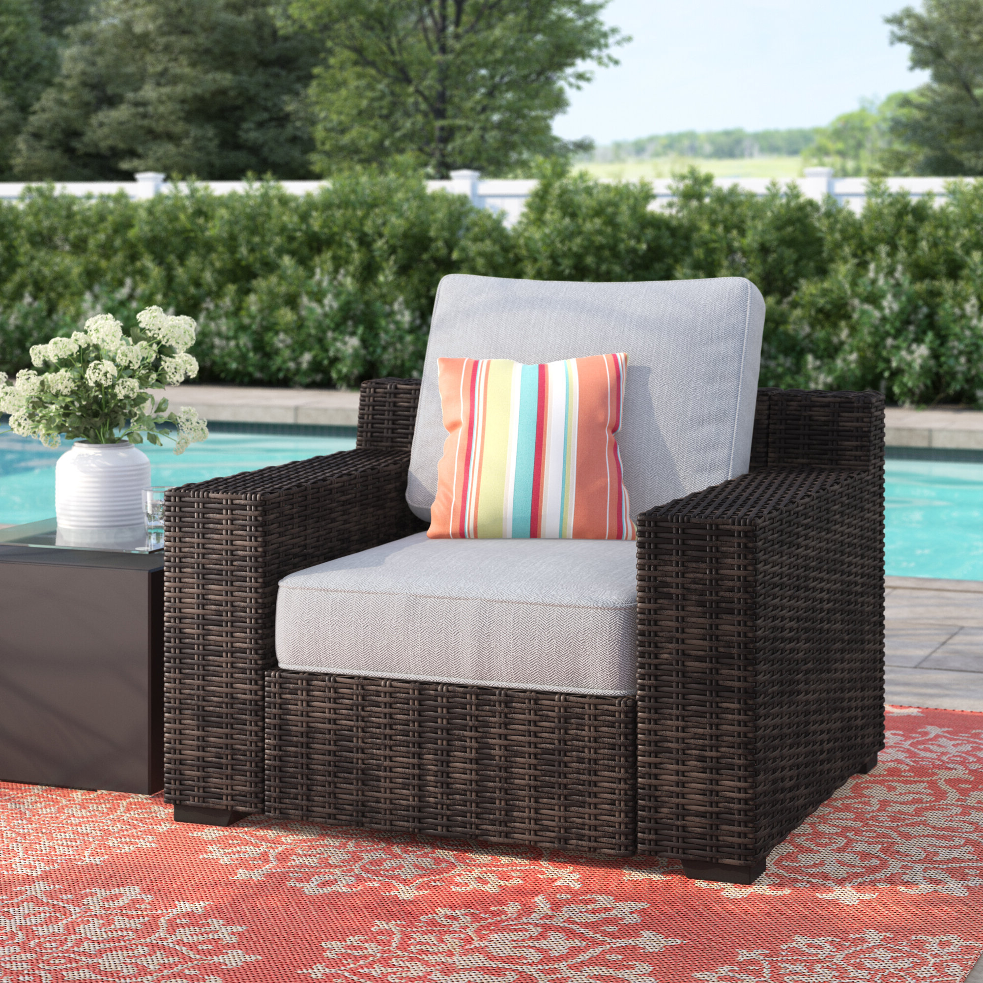 Popular Oreland Patio Sofas With Cushions Within Oreland Patio Chair With Cushions (View 6 of 20)