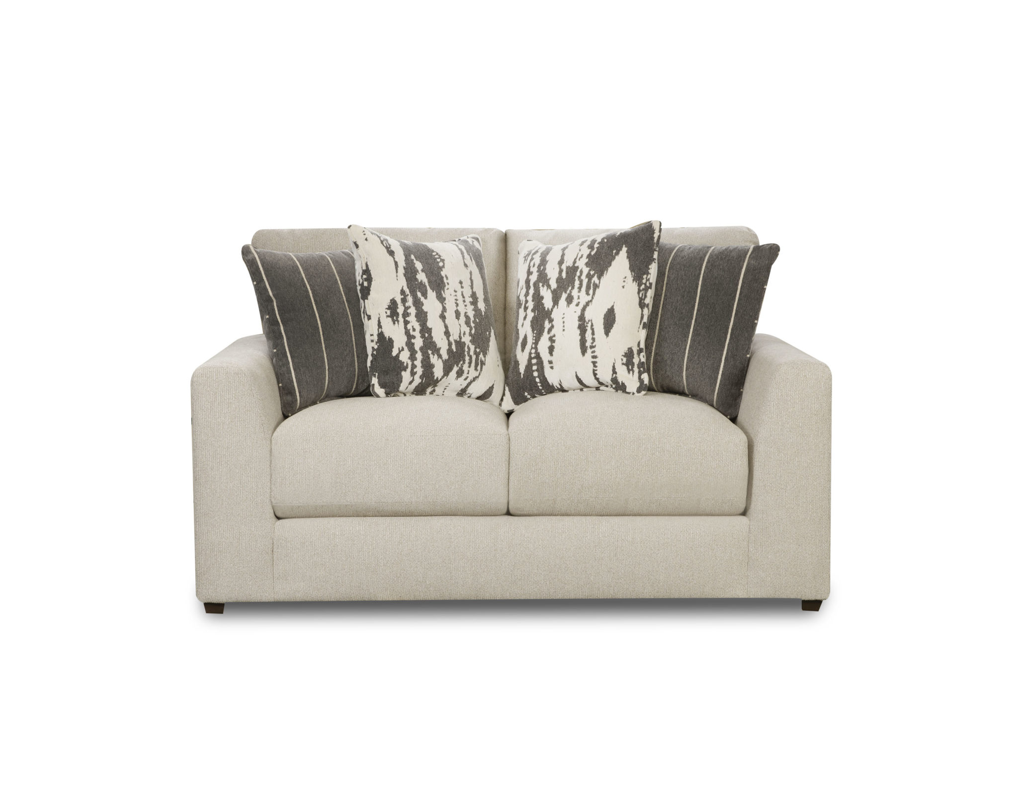 Popular Pavilion Ivory Loveseat Throughout Clifford Loveseats With Cushion (View 20 of 20)