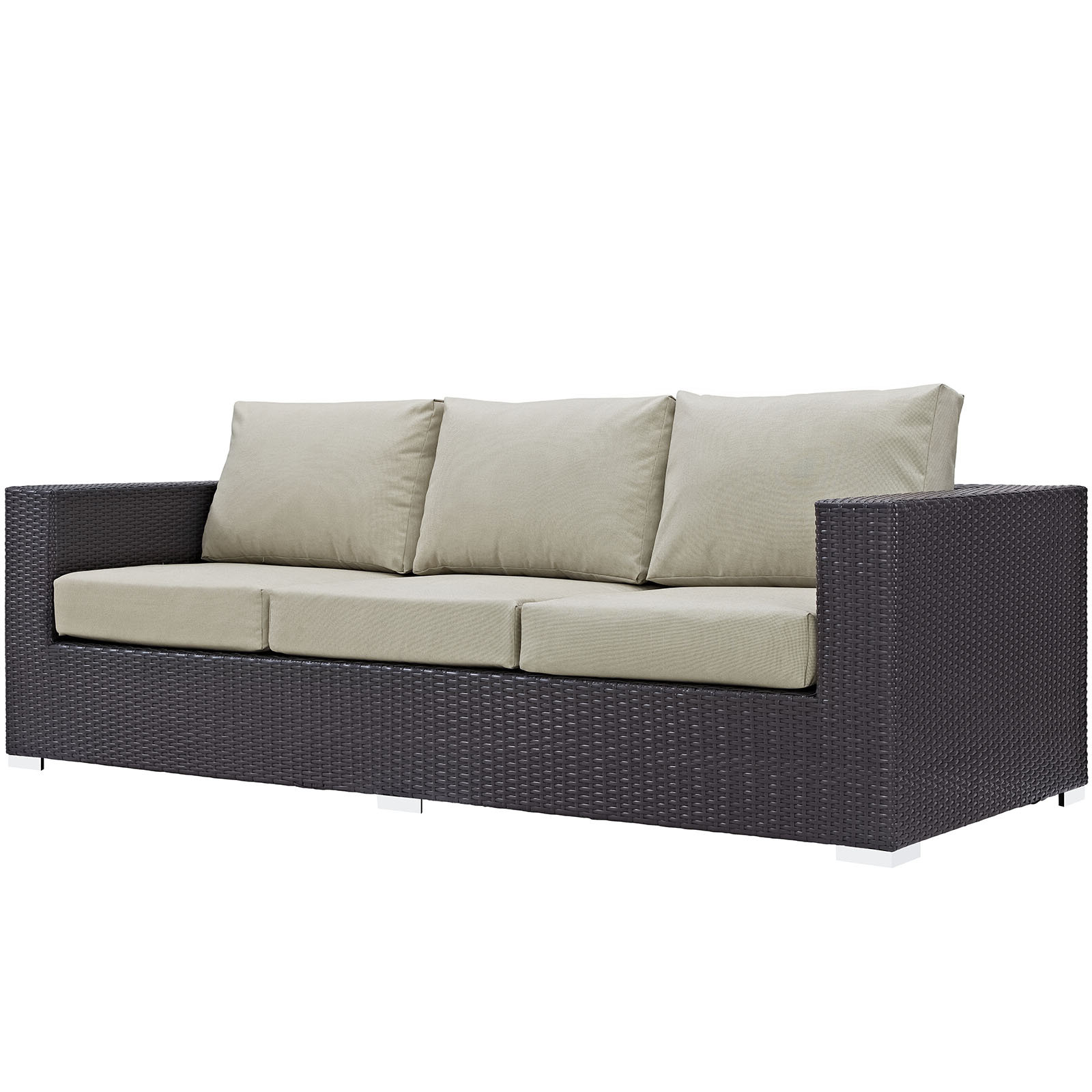 Popular Provencher Patio Loveseats With Cushions Intended For Brentwood Patio Sofa With Cushions (View 10 of 20)
