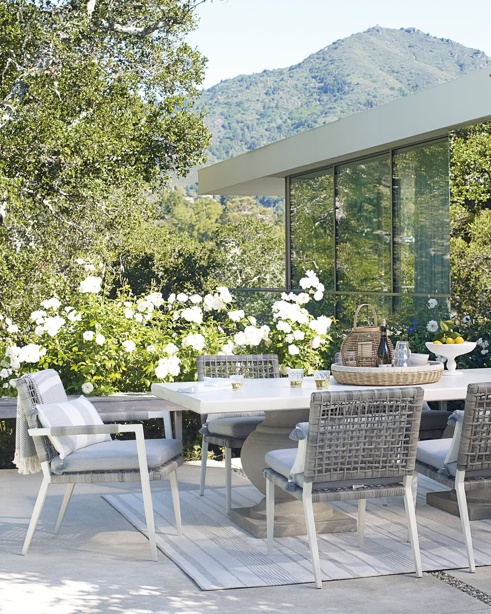 Popular Wrobel Patio Sectionals With Cushion Within Serena & Lily Waterfront Armchair In  (View 11 of 20)