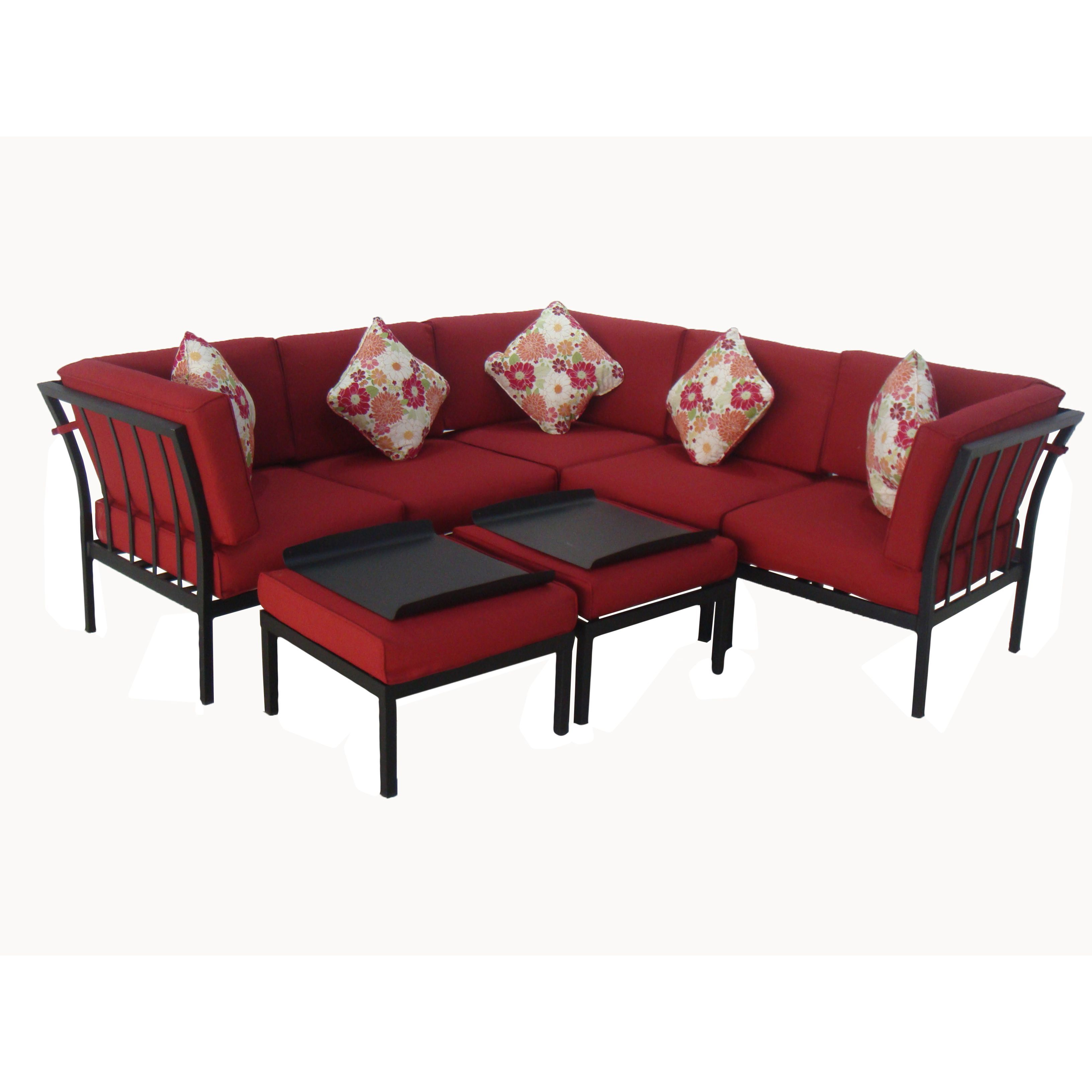 Practical And Multifunctional, This Modular Set Is Perfect With Regard To Preferred Greta Living Patio Sectionals With Cushions (View 15 of 20)
