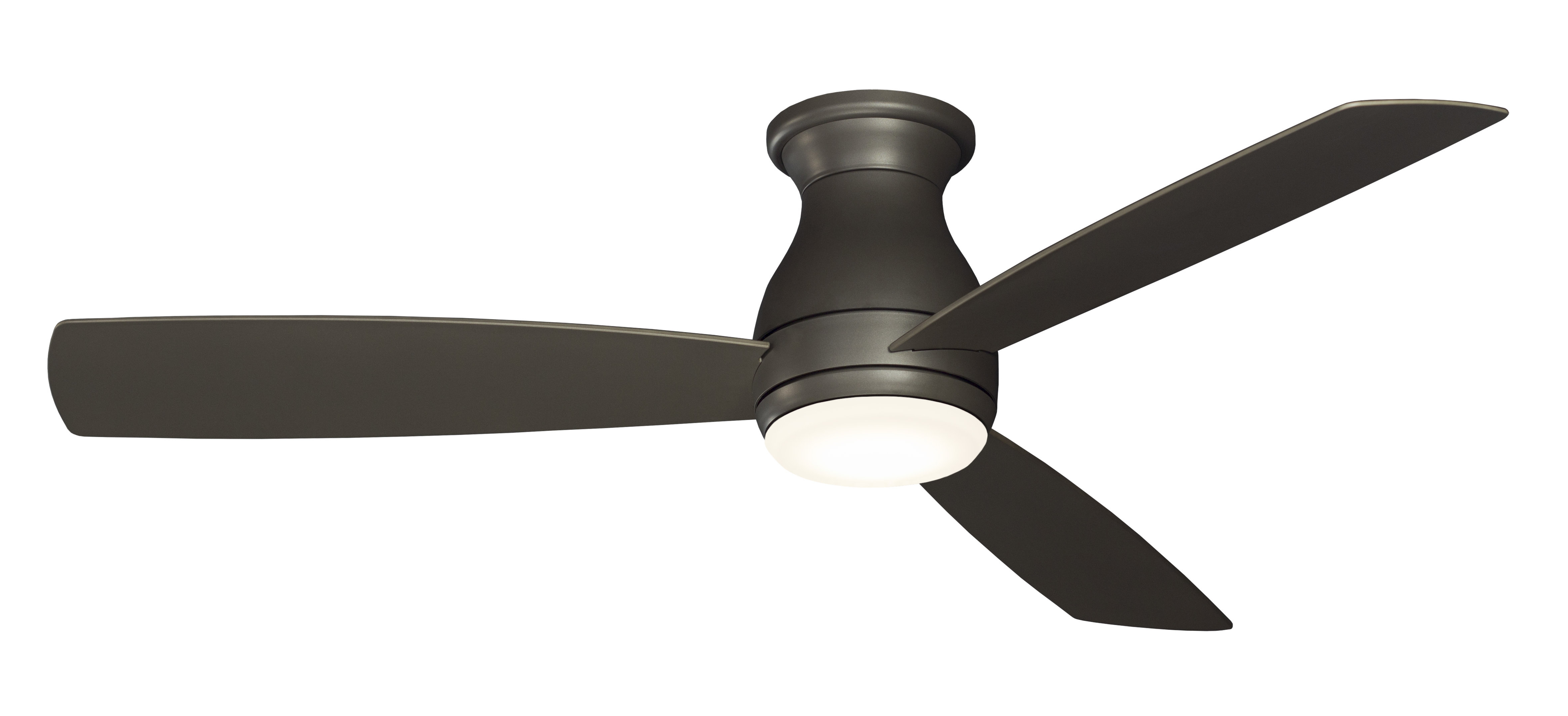 "Preferred 52"" Hugh 3 Blade Outdoor Led Ceiling Fan Pertaining To Java 3 Blade Outdoor Ceiling Fans (View 15 of 20)"