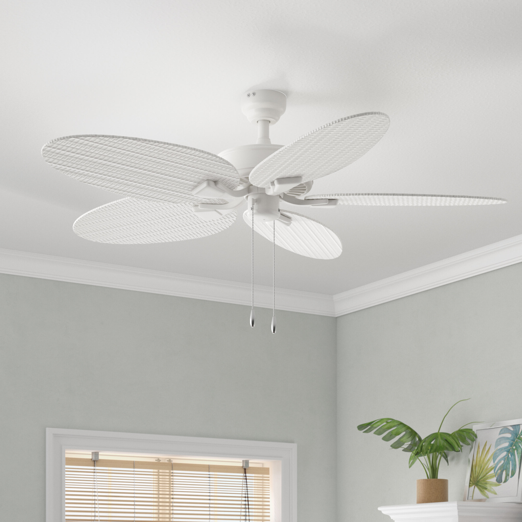 "Preferred 52"" Kalea 5 Blade Ceiling Fan With Remote With Kalea 5 Blade Outdoor Ceiling Fans (View 5 of 20)"