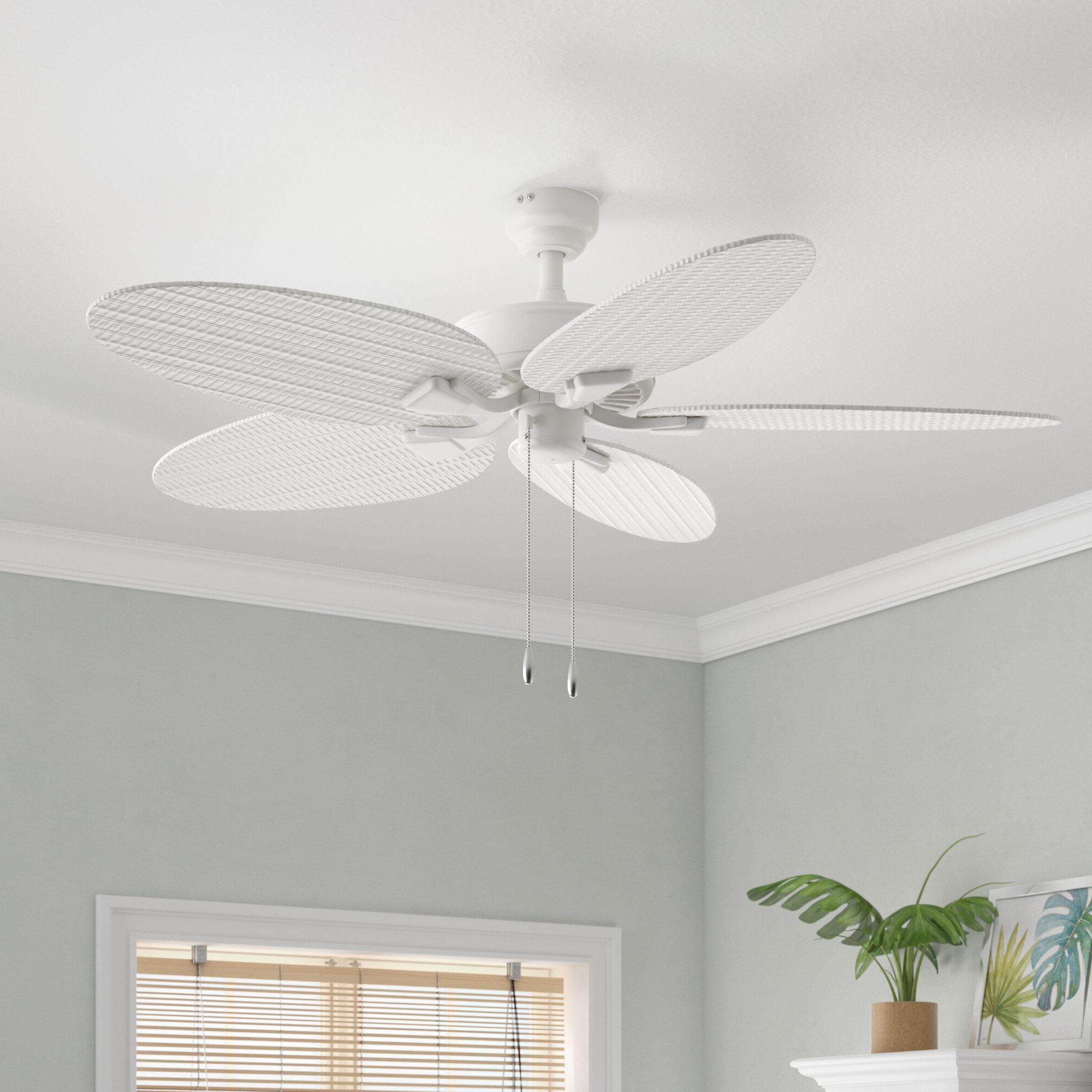 "Preferred 52"" Kalea 5 Blade Ceiling Fan With Remote With Kalea 5 Blade Outdoor Ceiling Fans (Gallery 5 of 20)"
