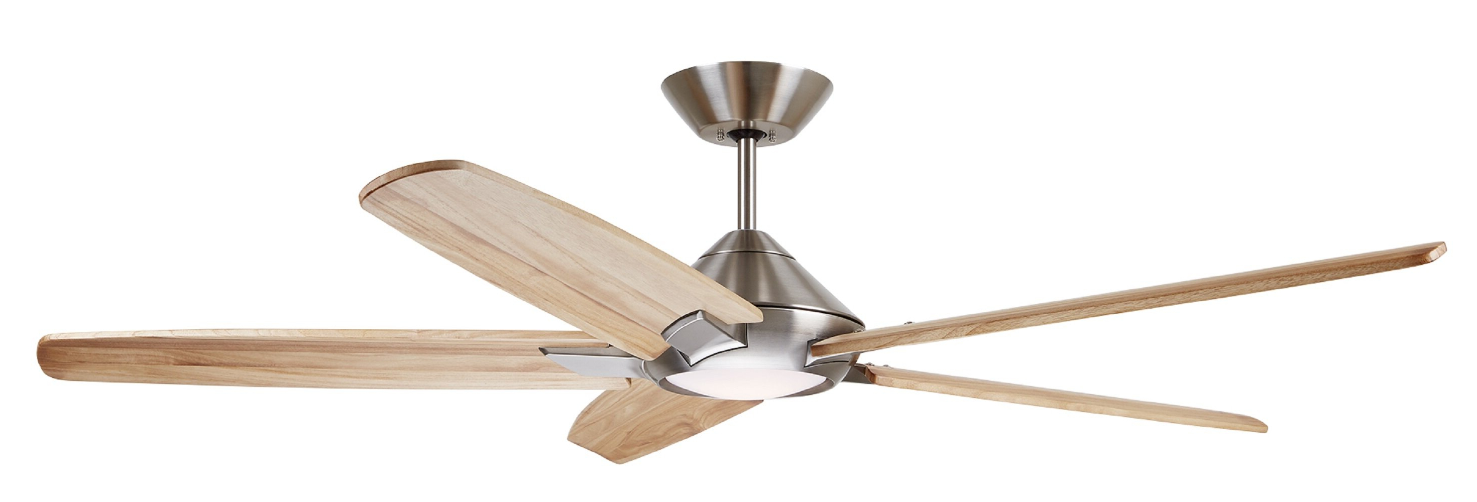 "Preferred 60"" Liv 5 Blade Led Ceiling Fan With Remote, Light Kit Included Pertaining To Raptor 5 Blade Ceiling Fans (View 10 of 20)"