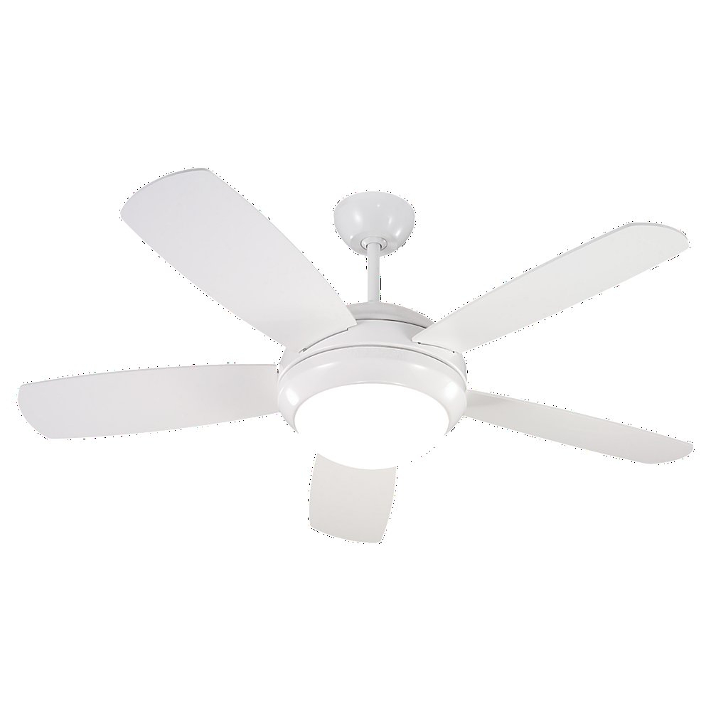 "Preferred Beltran 5 Blade Ceiling Fans Regarding Mercury Row 44"" Beltran 5 Blade Ceiling Fan, Light Kit Included (View 17 of 20)"