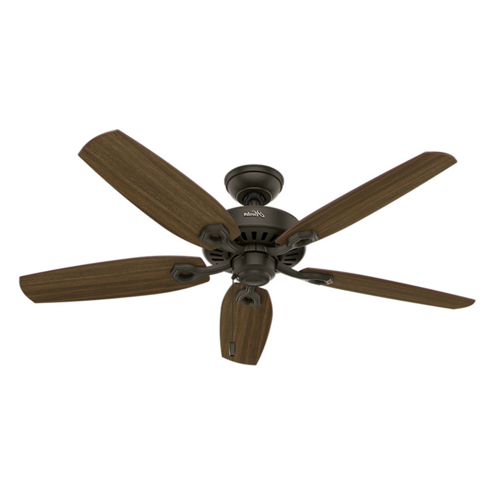 Preferred Builder Low Profile 5 Blade Ceiling Fans Pertaining To Hunter Builder Elite 52 In (View 18 of 20)