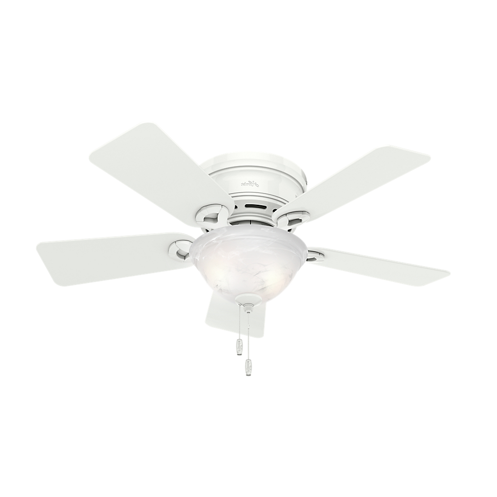 """Preferred Conroy 5 Blade Ceiling Fans With Regard To Hunter 42"""" Conroy Snow White Ceiling Fan With Light (View 18 of 20)"""