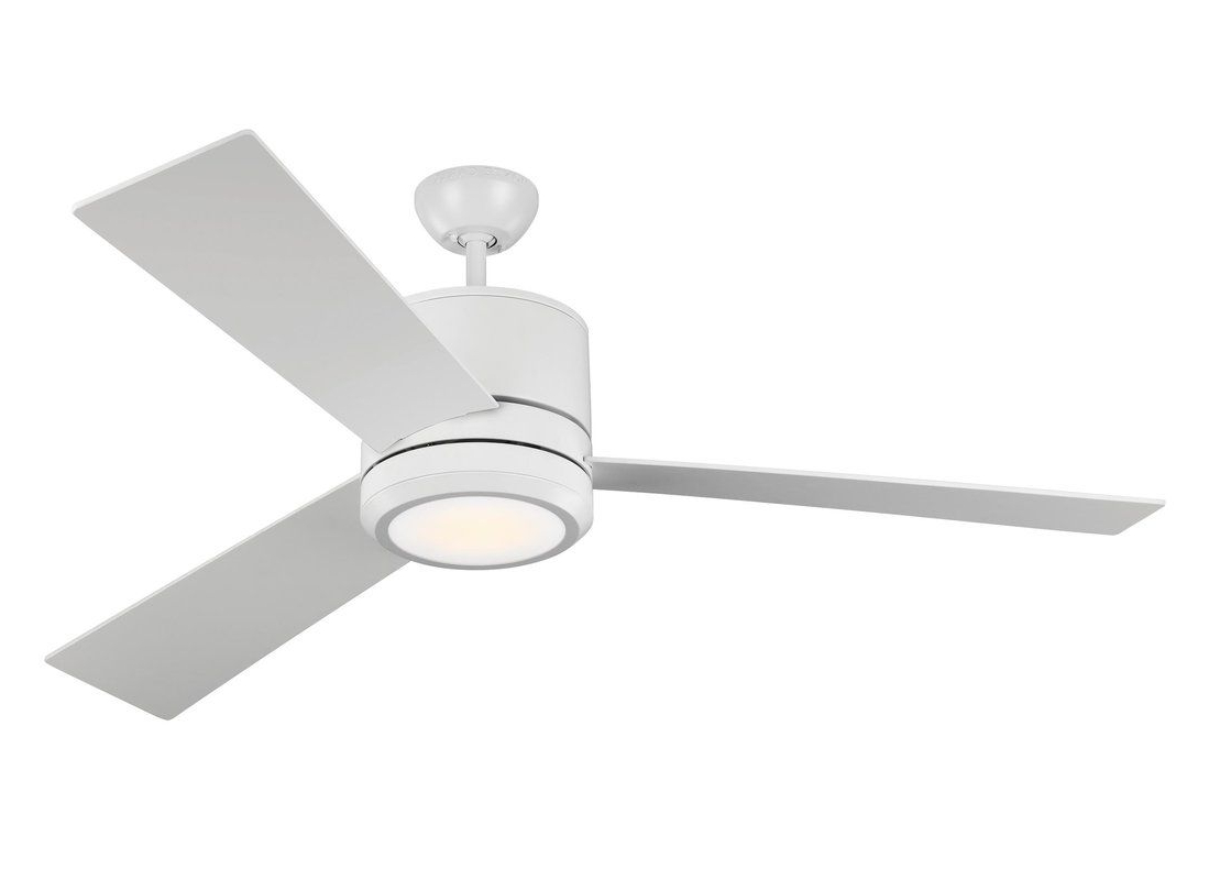"Preferred Embrace 3 Blade Ceiling Fans Pertaining To 56"" Ossu 3 Blade Led Ceiling Fan In (View 7 of 20)"