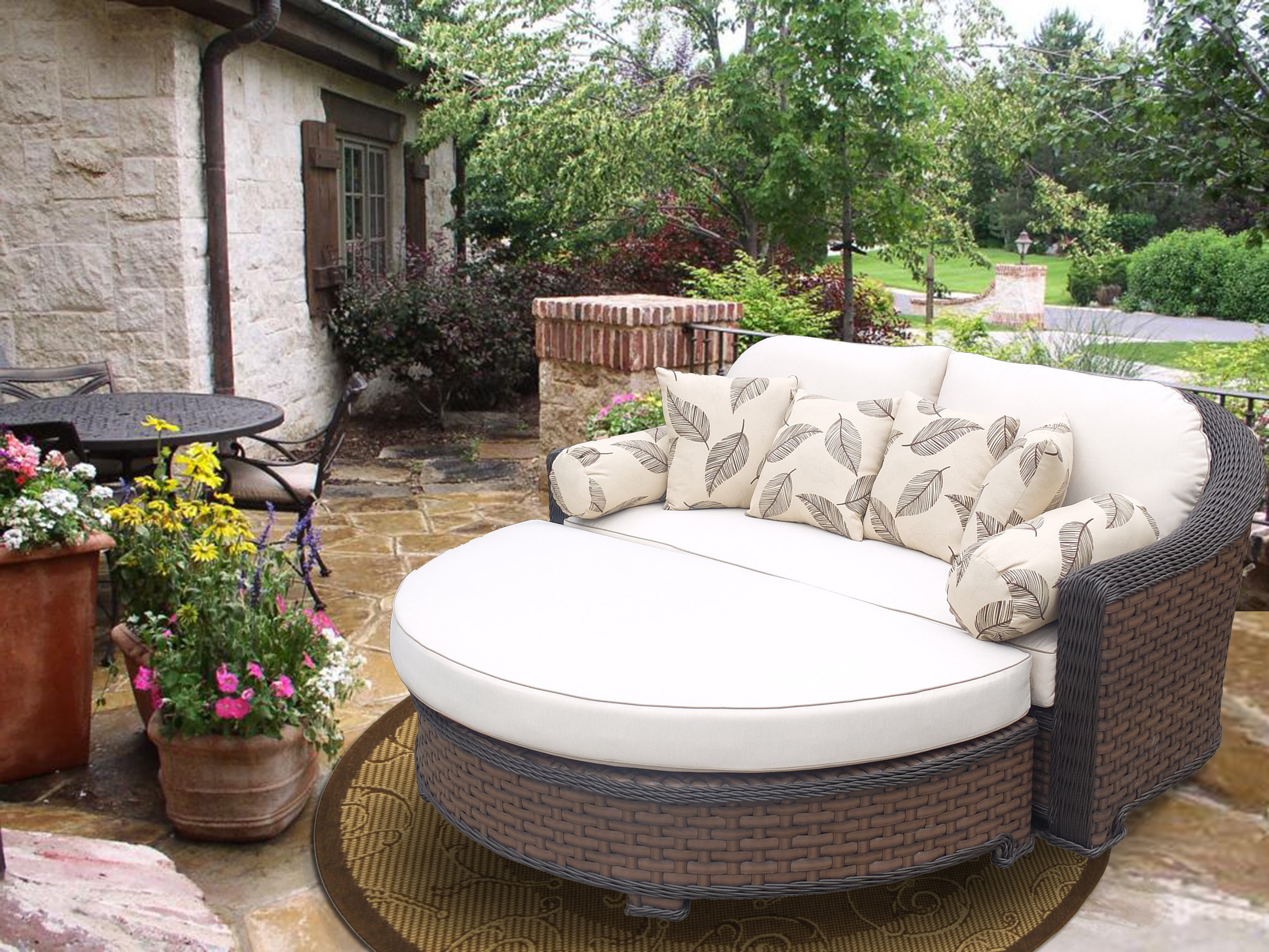 Preferred Gaia Premium Daybed With Cushions In Greening Outdoor Daybeds With Ottoman & Cushions (View 17 of 20)
