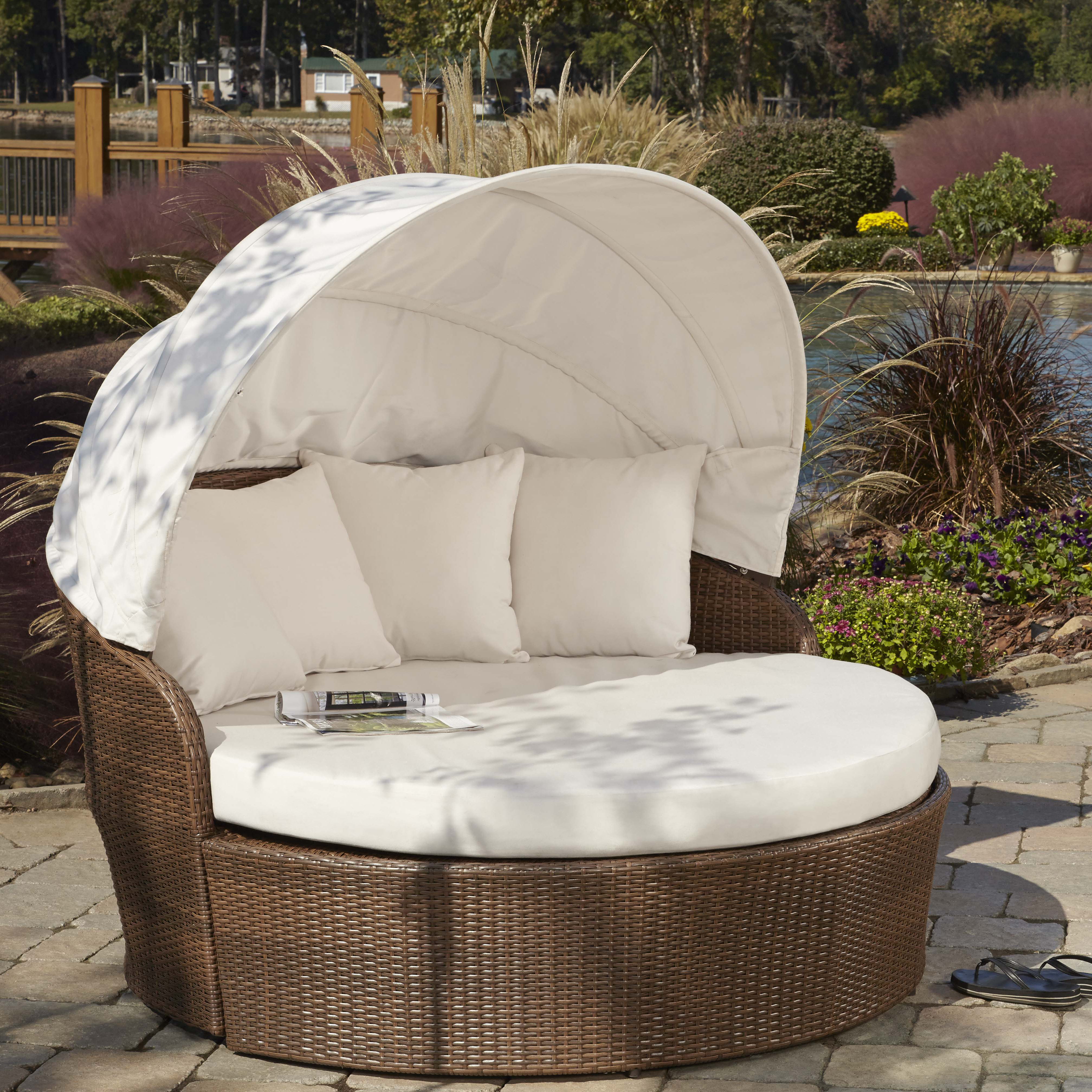 Preferred Gilbreath Daybeds With Cushions Inside Key Biscayne Patio Daybed With Sunbrella Cushions (View 17 of 20)