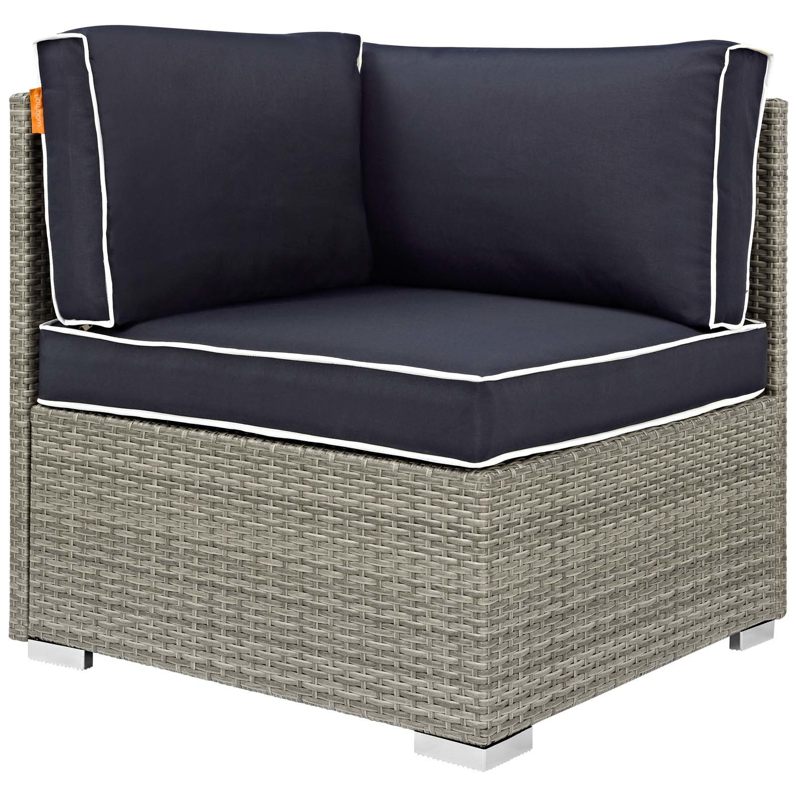 Preferred Heinrich Outdoor Corner Patio Chair With Cushion Within Hursey Patio Sofas (View 15 of 20)