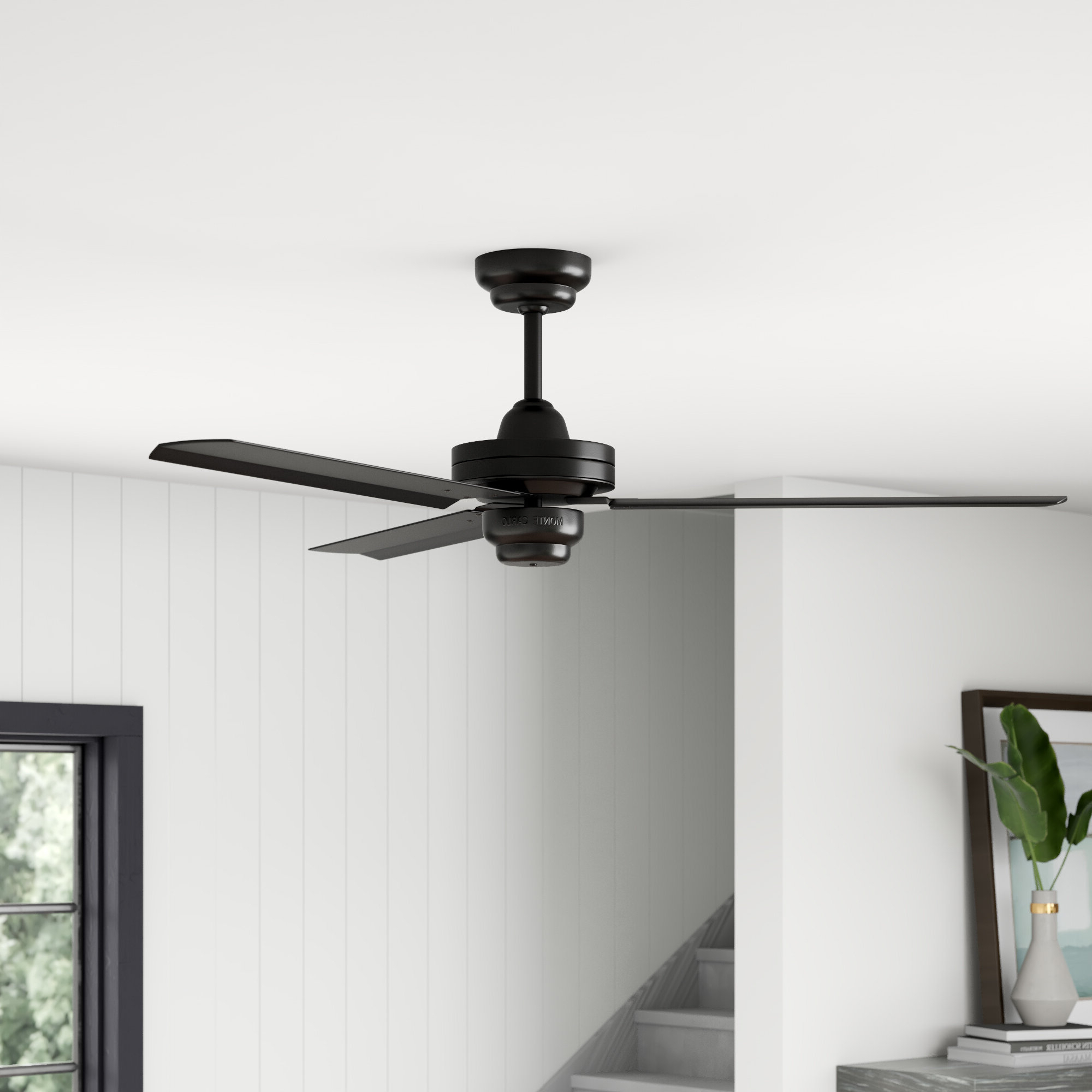 """Preferred Mercury Row 54"""" Defelice 3 Blade Ceiling Fan Pertaining To Emil 3 Blade Ceiling Fans (View 18 of 20)"""