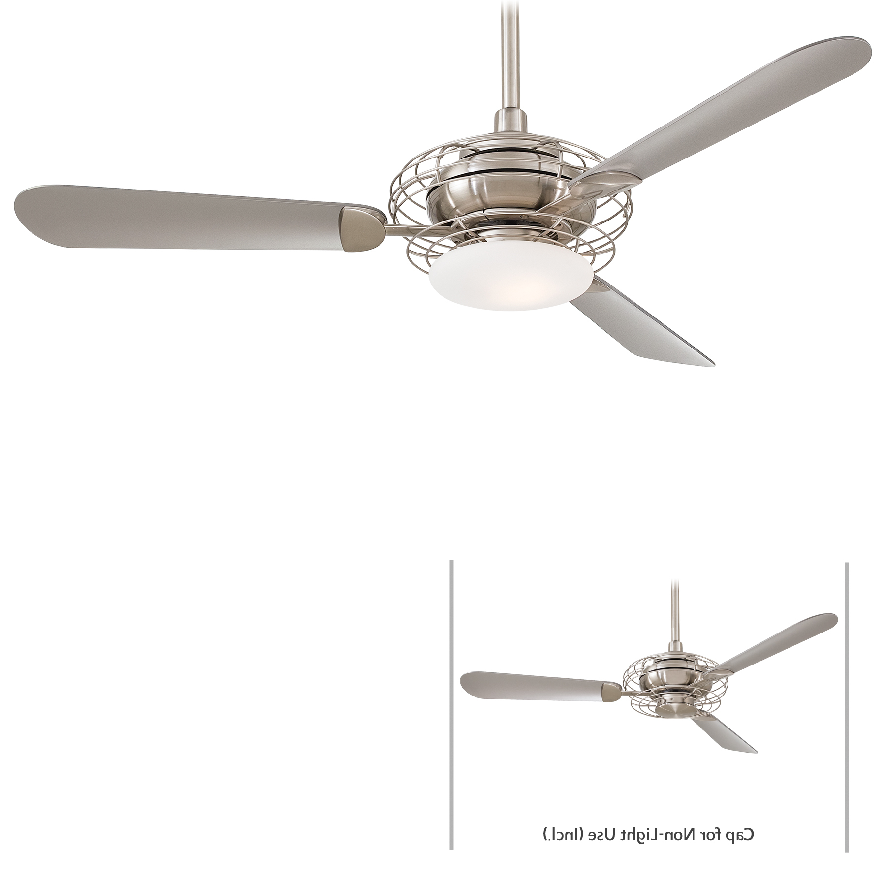Preferred Minka Group® :: Brands :: Minka Aire® :: F601 Bs/bn In Acero Retro 3 Blade Led Ceiling Fans (View 14 of 20)