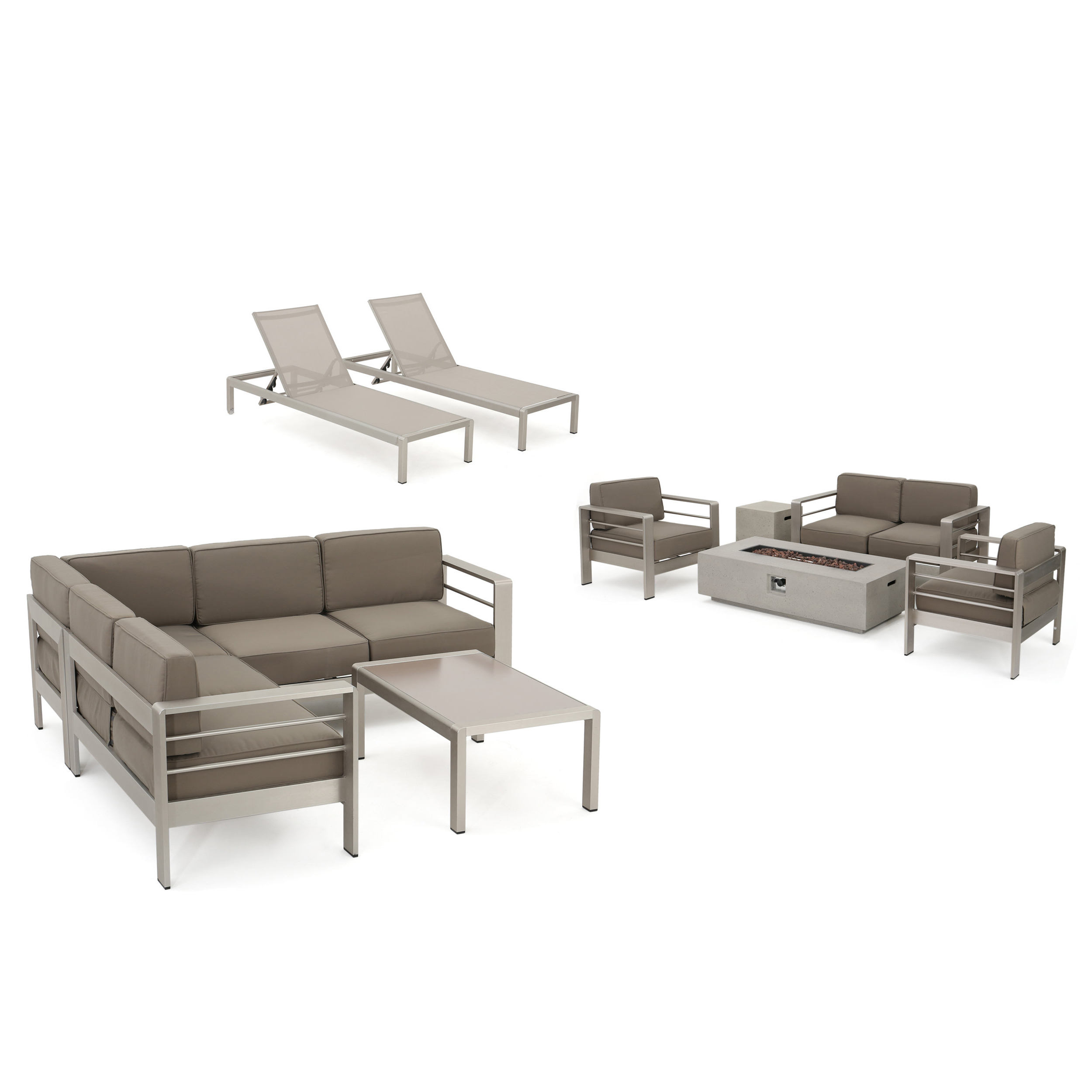 Preferred Royalston Patio Sofas With Cushions In Royalston 10 Piece Sectional Set With Cushions (View 14 of 20)