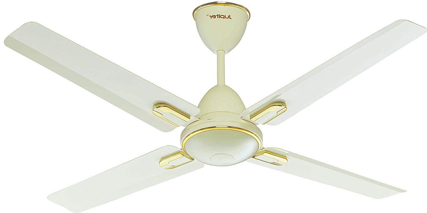 """Preferred Sven 5 Blade Ceiling Fans With Regard To Jupiter Quadcopter Bldc 48"""" Energy Efficient Remote Controlled C/fan Royal  Ivory Deco 4 Blades (View 14 of 20)"""