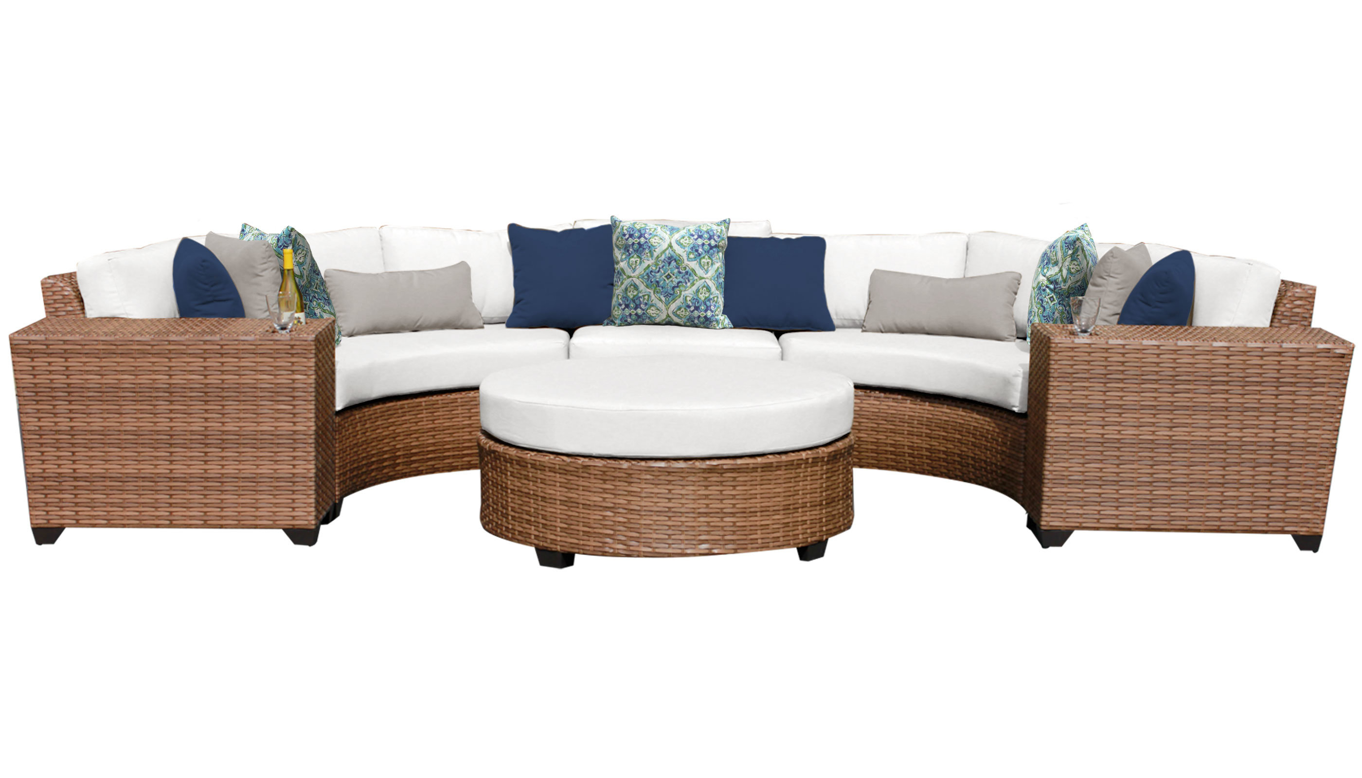 Preferred Waterbury Curved Armless Sofa With Cushions Pertaining To Waterbury 6 Piece Seating Group With Cushions (View 9 of 20)