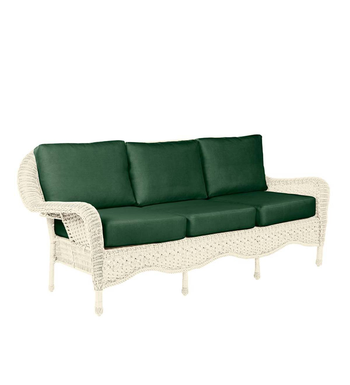 Prospect Hill Wicker Settee Benches Pertaining To 2020 Prospect Hill Outdoor Wicker Deep Seating Sofa With Cushions (View 14 of 20)