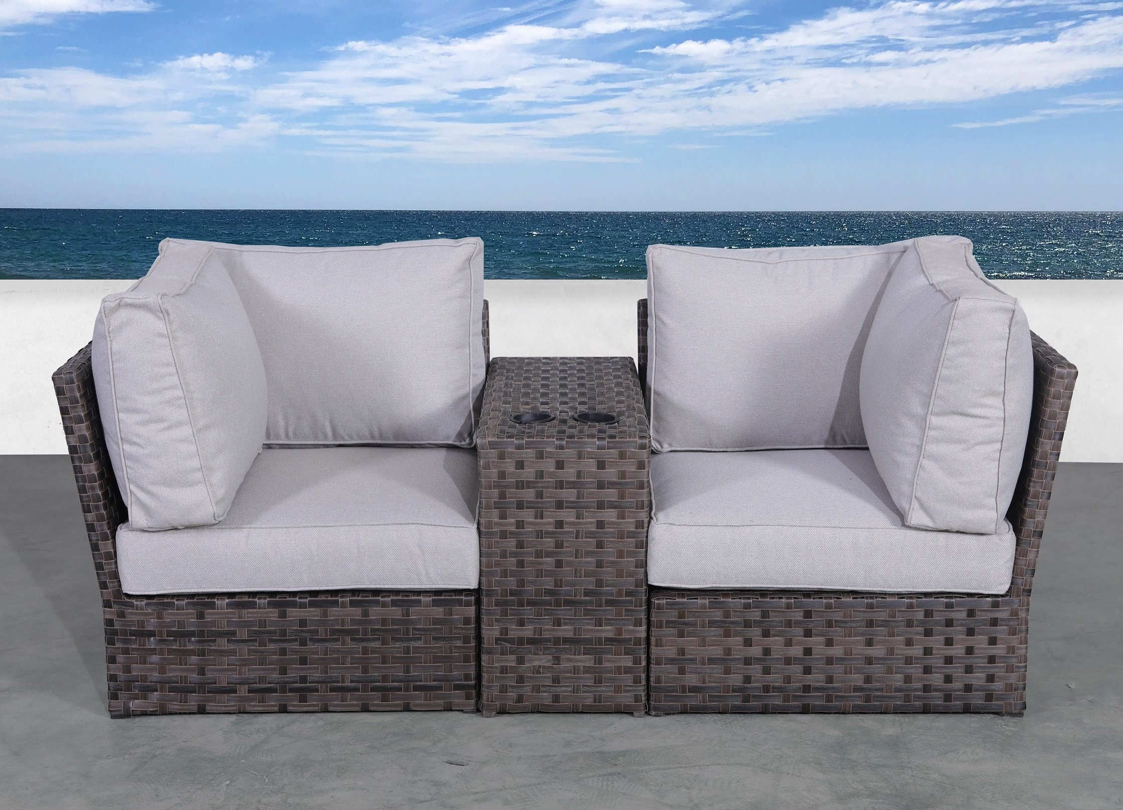 Provencher Patio Loveseats With Cushions Throughout Famous Cochran Loveseat With Cushions (View 14 of 20)