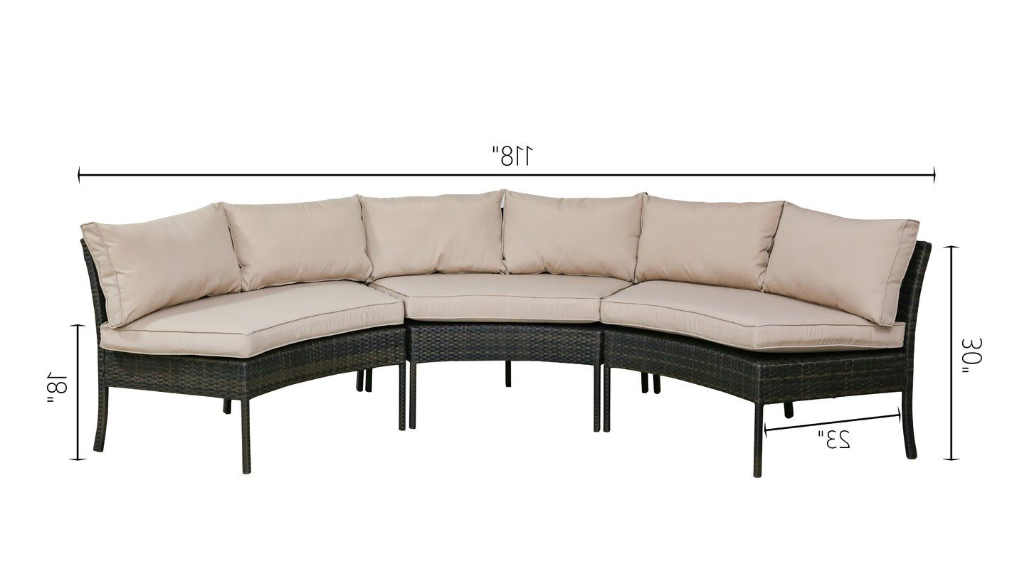 Purington Circular Patio Sectional With Cushions In 2019 Regarding Famous Purington Circular Patio Sectionals With Cushions (View 4 of 20)